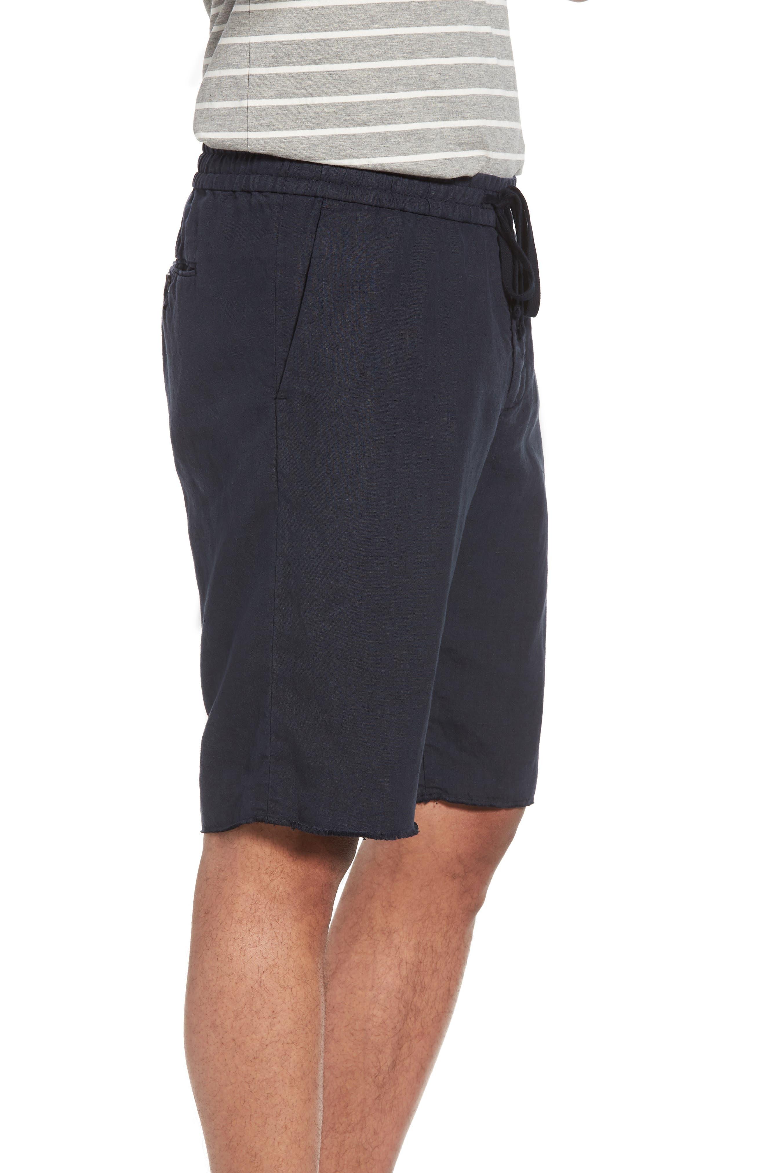 Raw Hem Slim Fit Track Shorts,                             Alternate thumbnail 3, color,                             NEW COASTAL