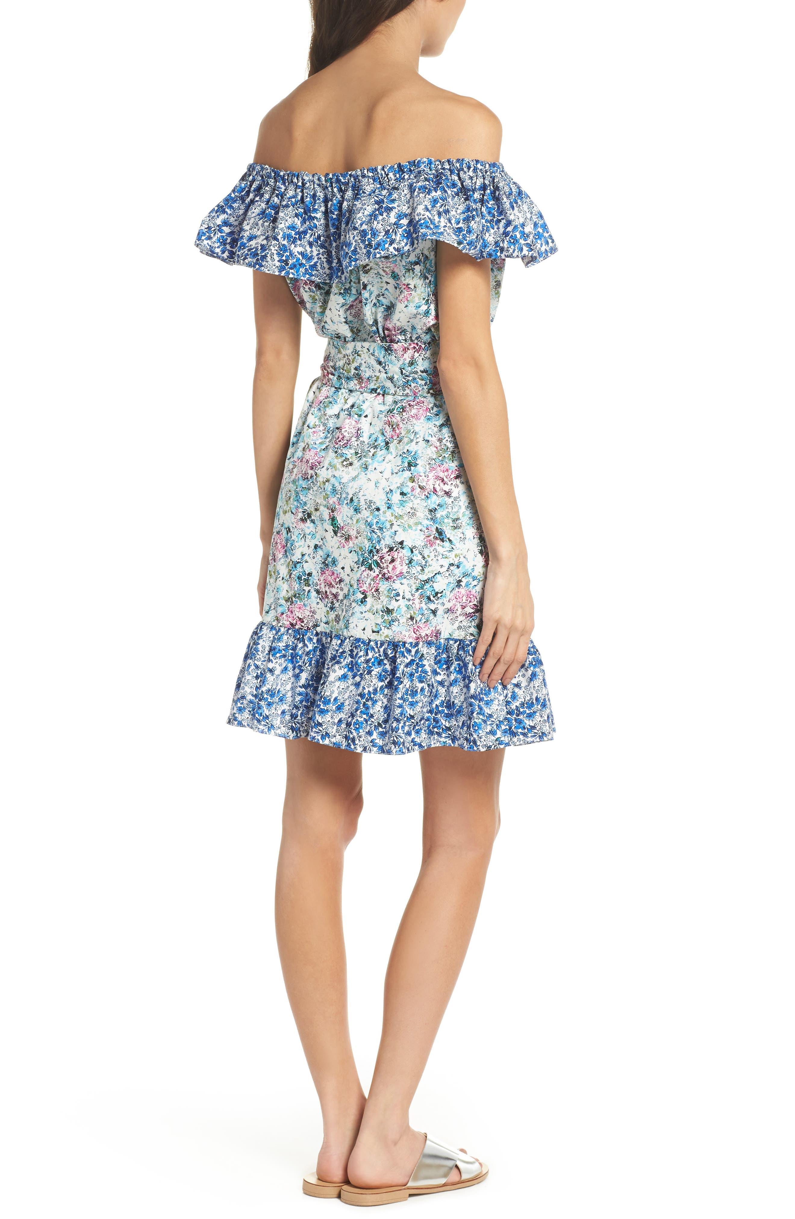Floral Off the Shoulder Dress,                             Alternate thumbnail 2, color,                             475