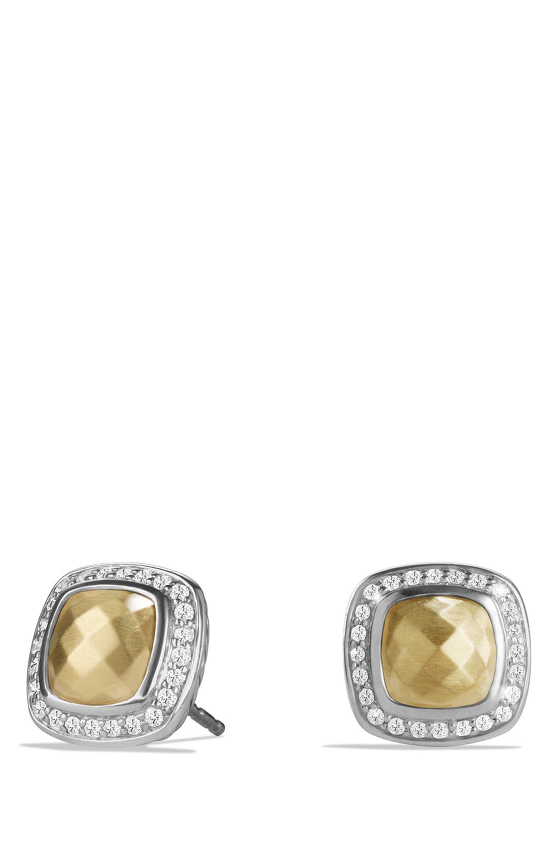'Albion' Earrings with 18K Gold Dome and Diamonds,                             Main thumbnail 1, color,                             GOLD DOME