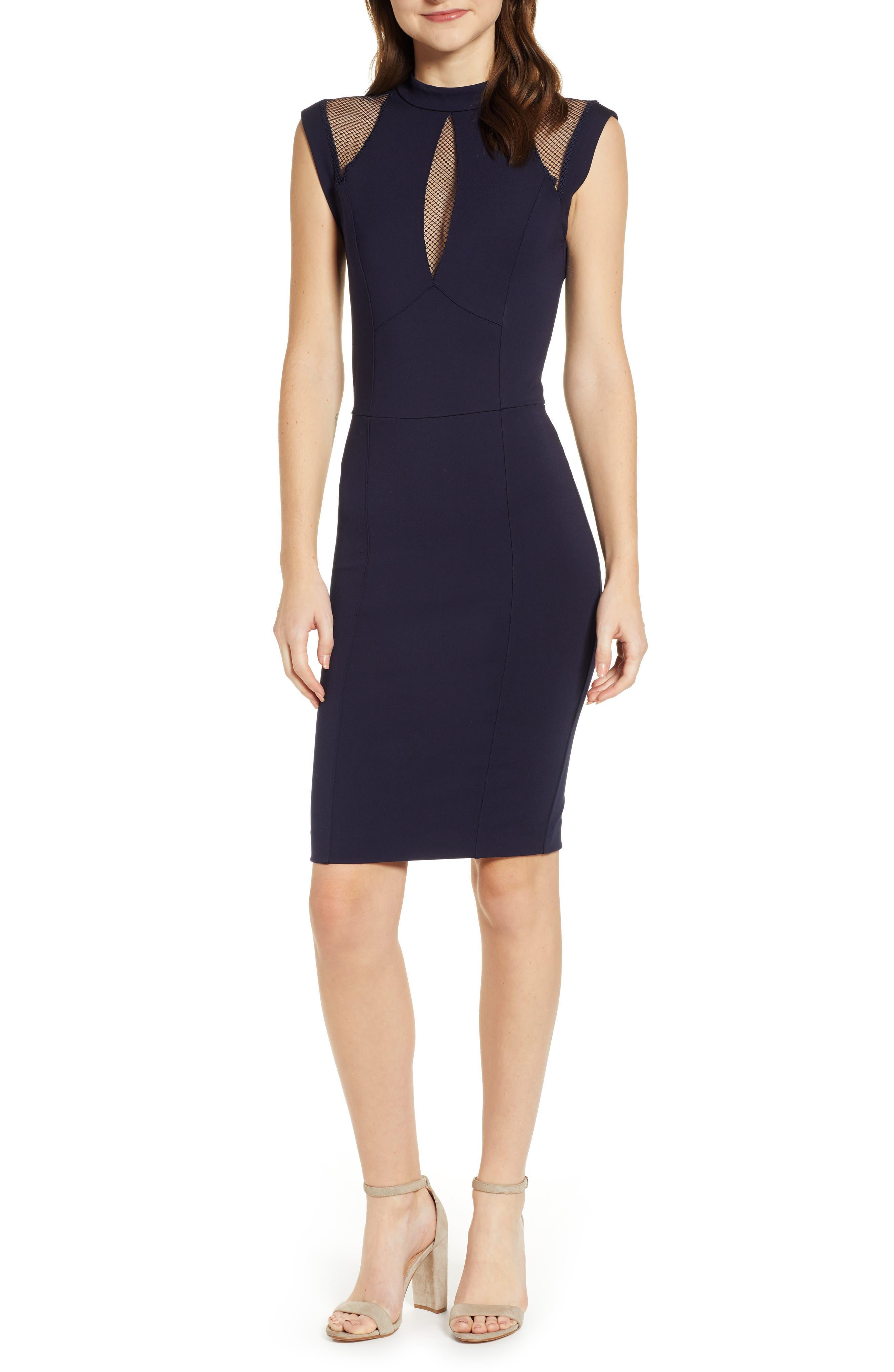 Galactica Body-Con Dress,                         Main,                         color, NAVY