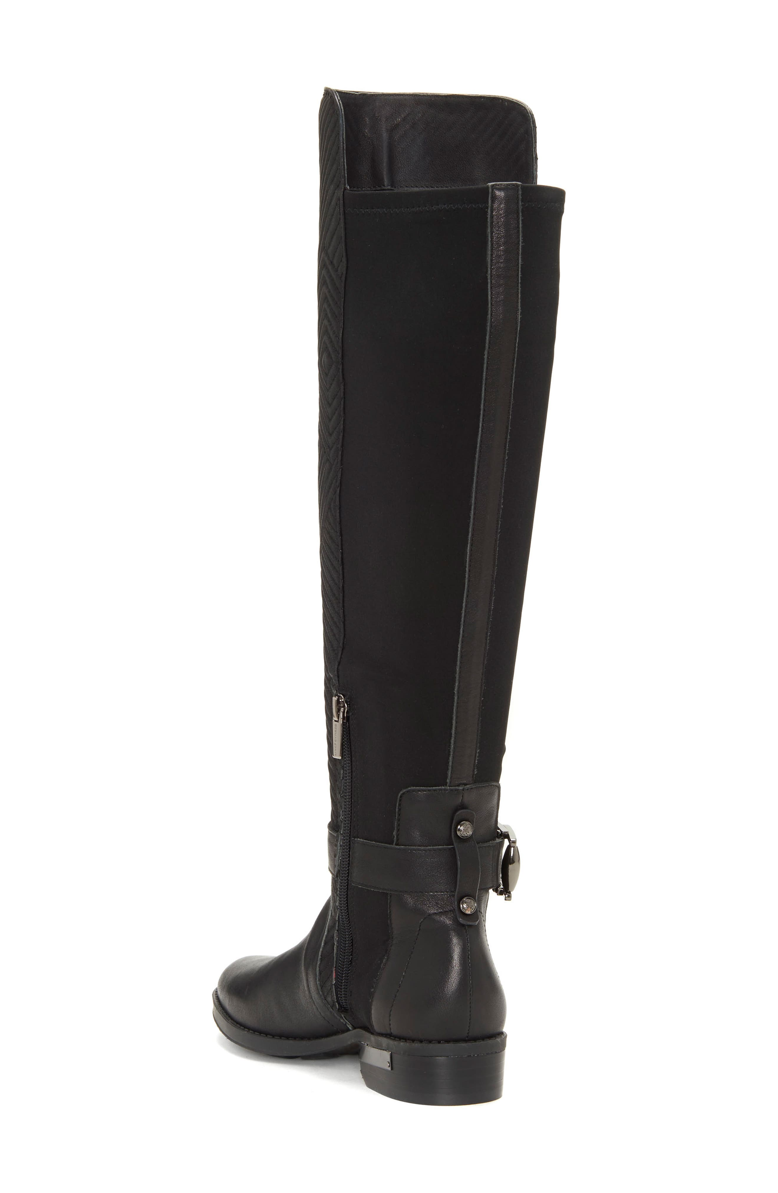 Pordalia Over-the-Knee Boot,                             Alternate thumbnail 2, color,                             BLACK LEATHER WIDE