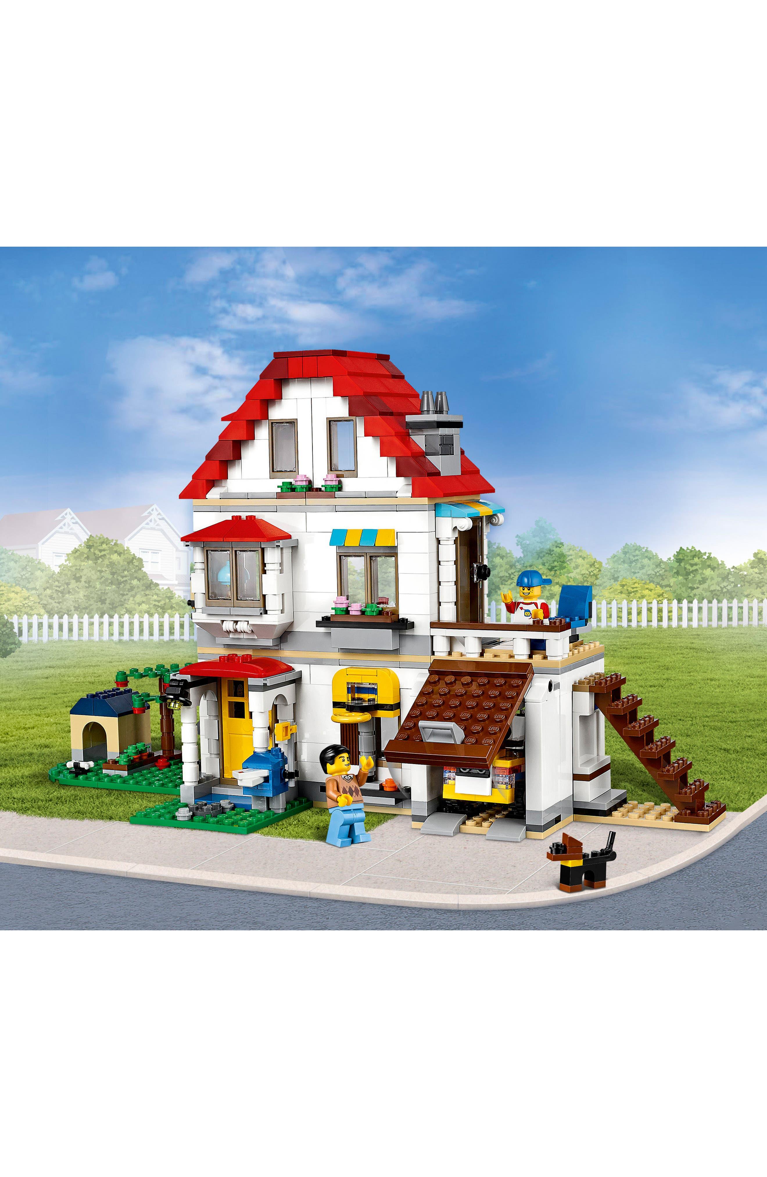 Creator Modular Family Villa Play Set - 31069,                             Alternate thumbnail 3, color,                             100