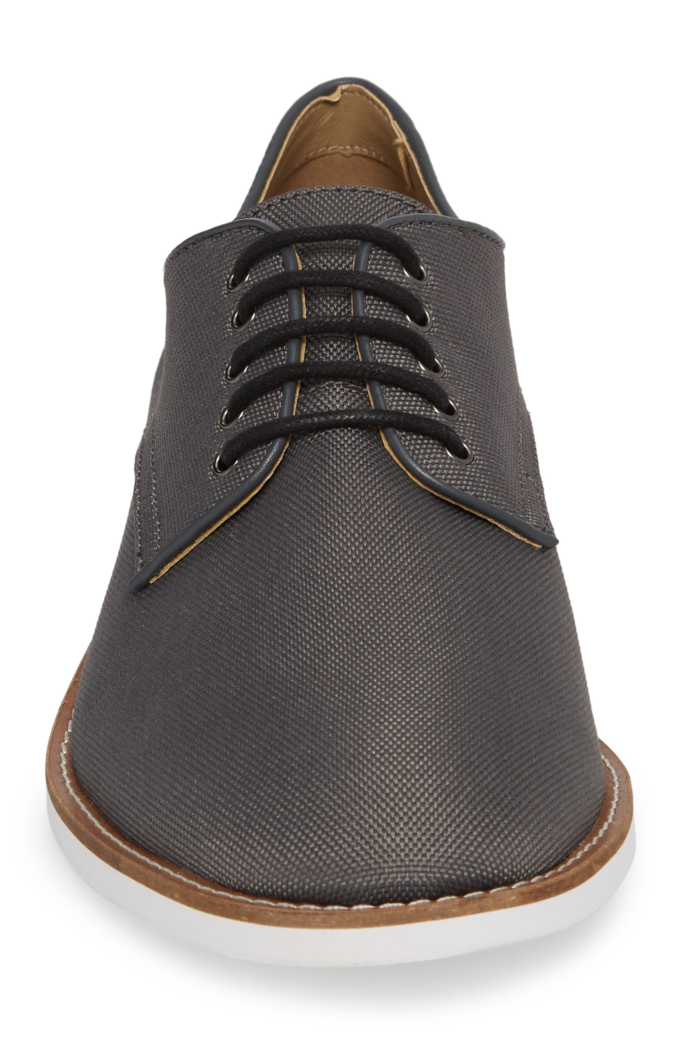 Atlee Plain Toe Derby,                             Alternate thumbnail 4, color,                             GREY SYNTHETIC