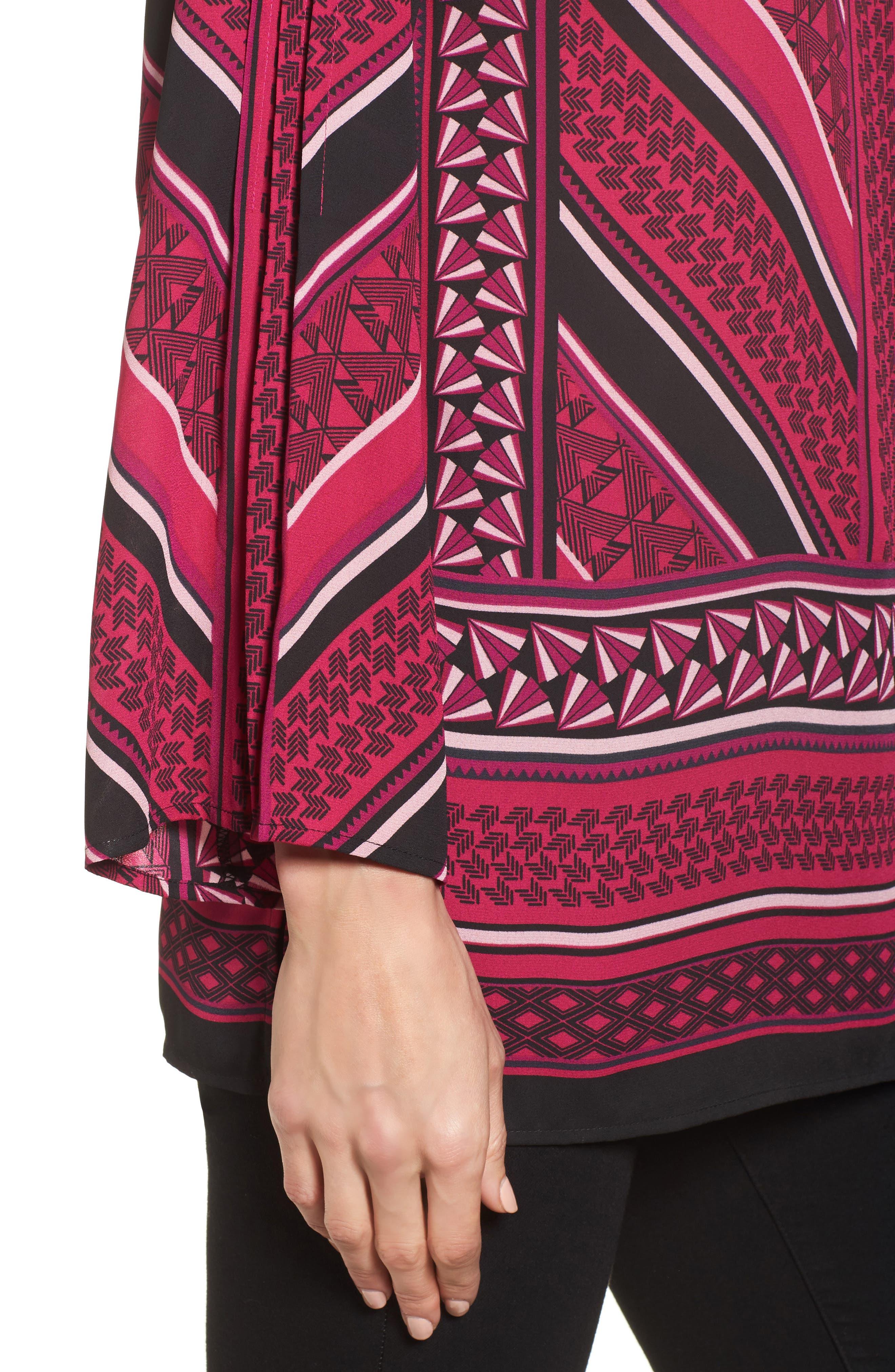 Pleated Sleeve Blouse,                             Alternate thumbnail 4, color,                             651