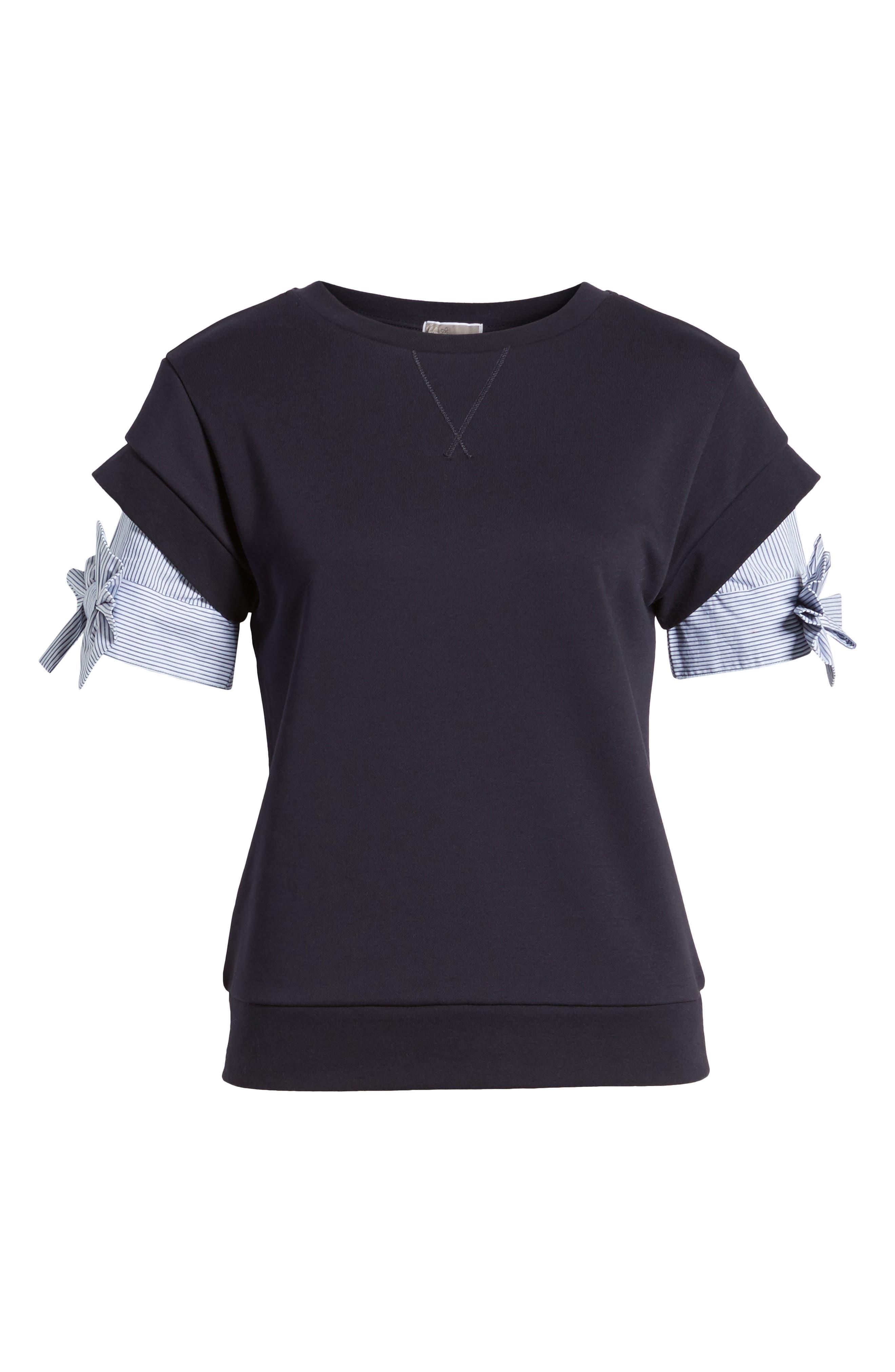 Bow Sleeve Sweatshirt,                             Alternate thumbnail 12, color,