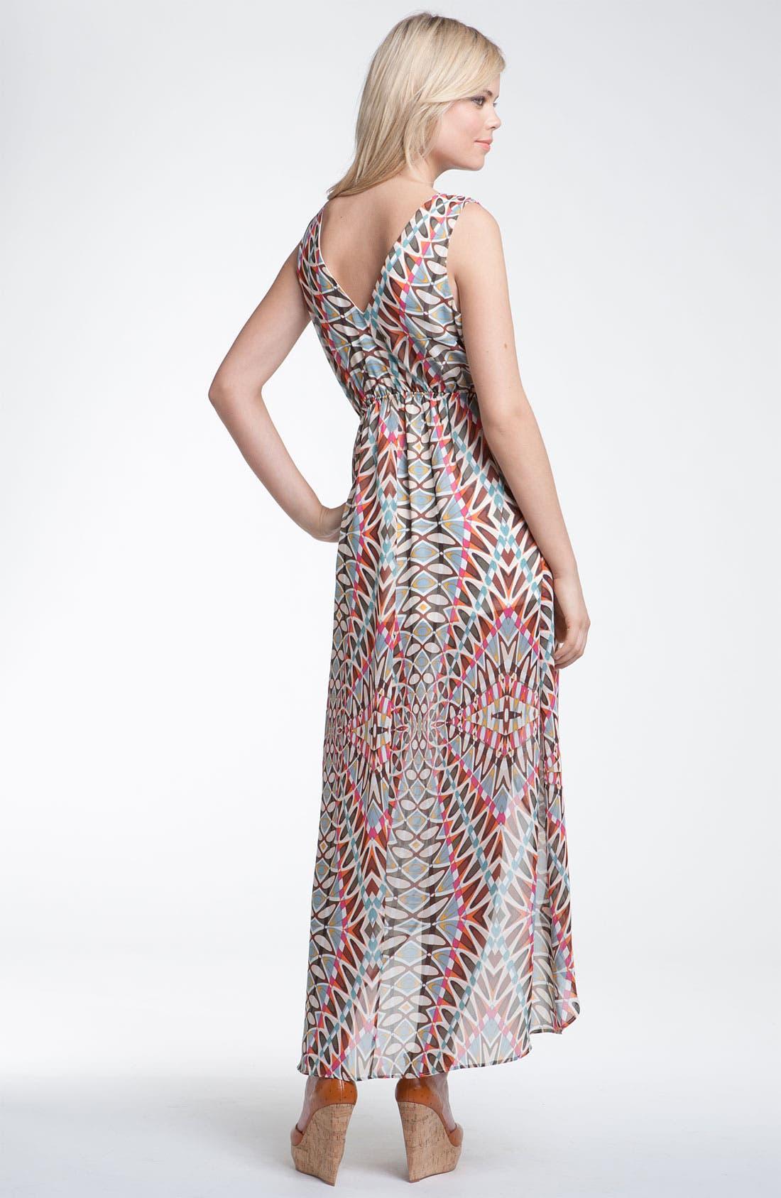 Print Surplice Maxi Dress,                             Alternate thumbnail 2, color,                             250