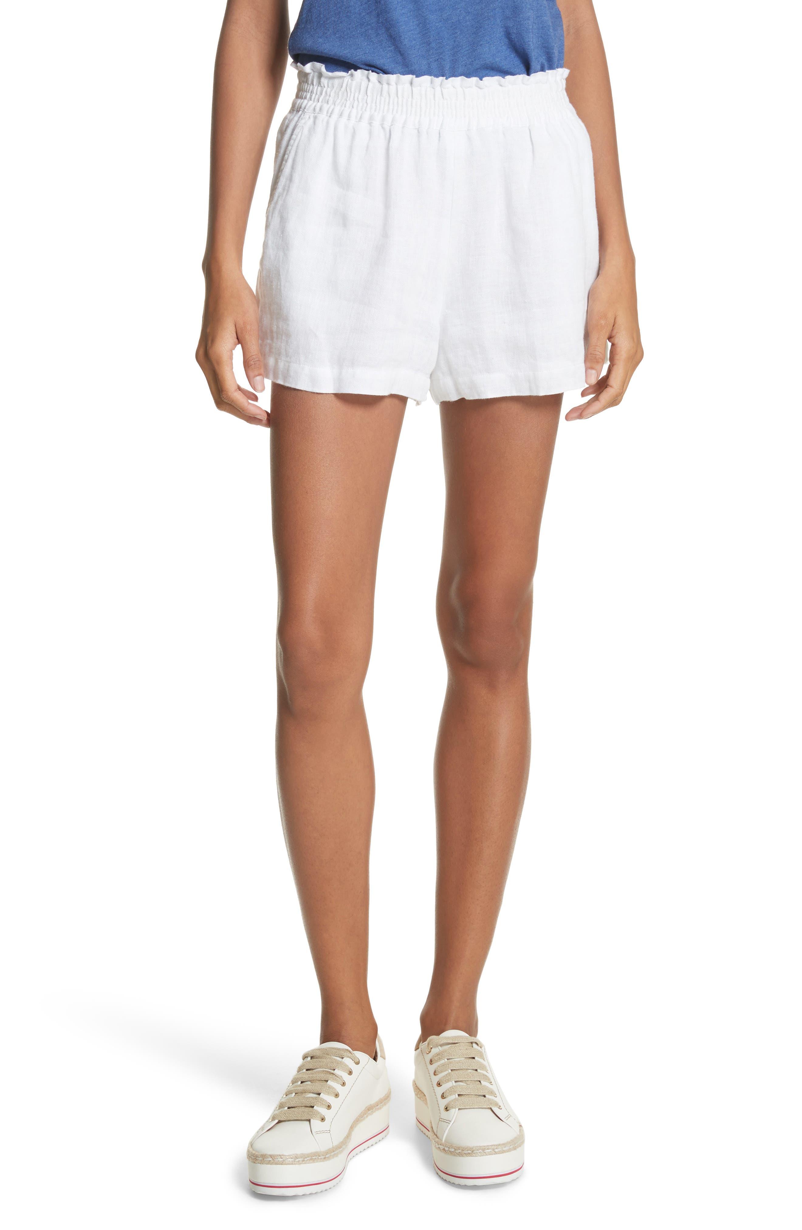 Fenna Linen Shorts,                             Main thumbnail 1, color,