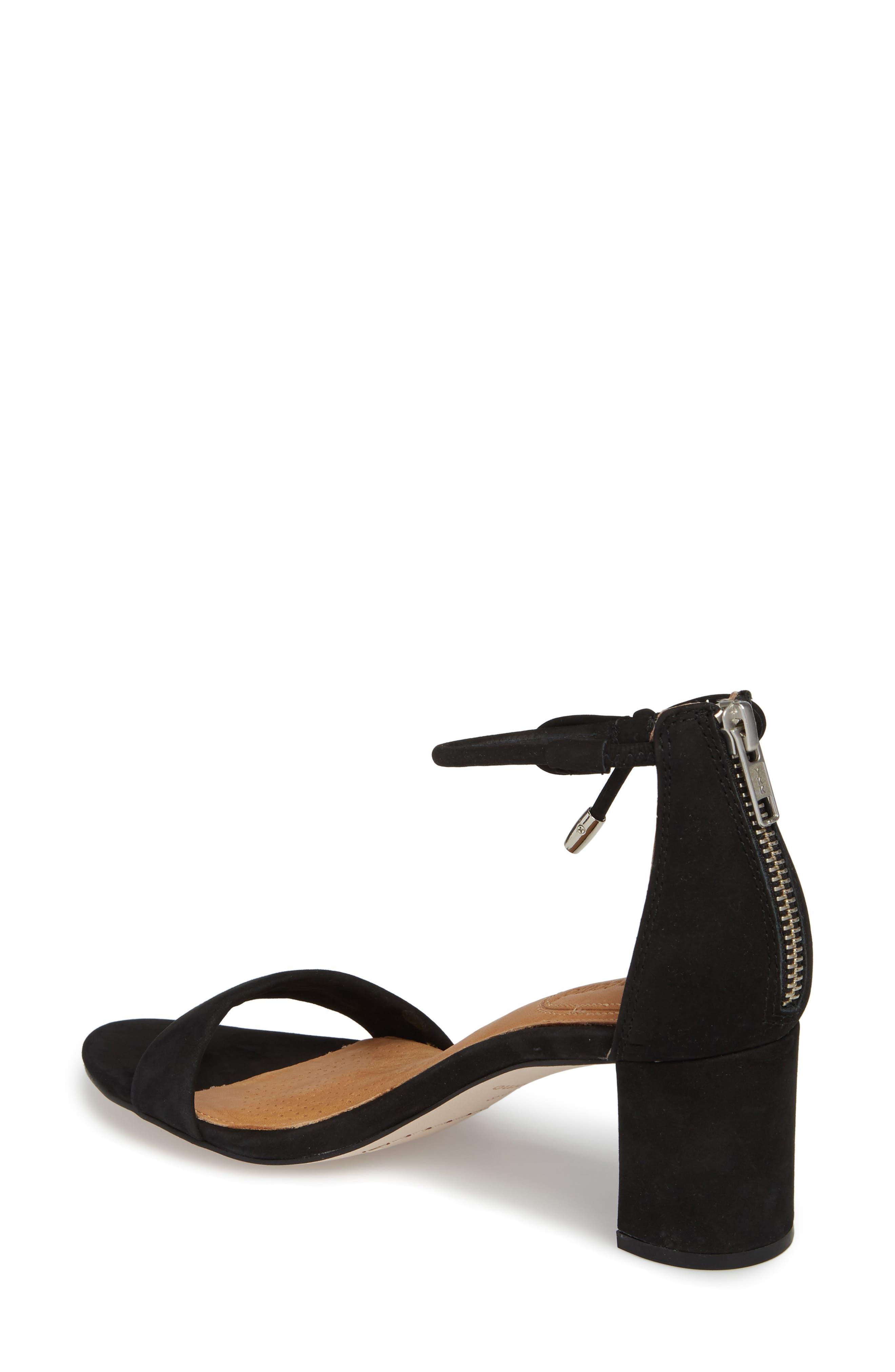 Celebratt Ankle Strap Sandal,                             Alternate thumbnail 2, color,                             BLACK NUBUCK LEATHER