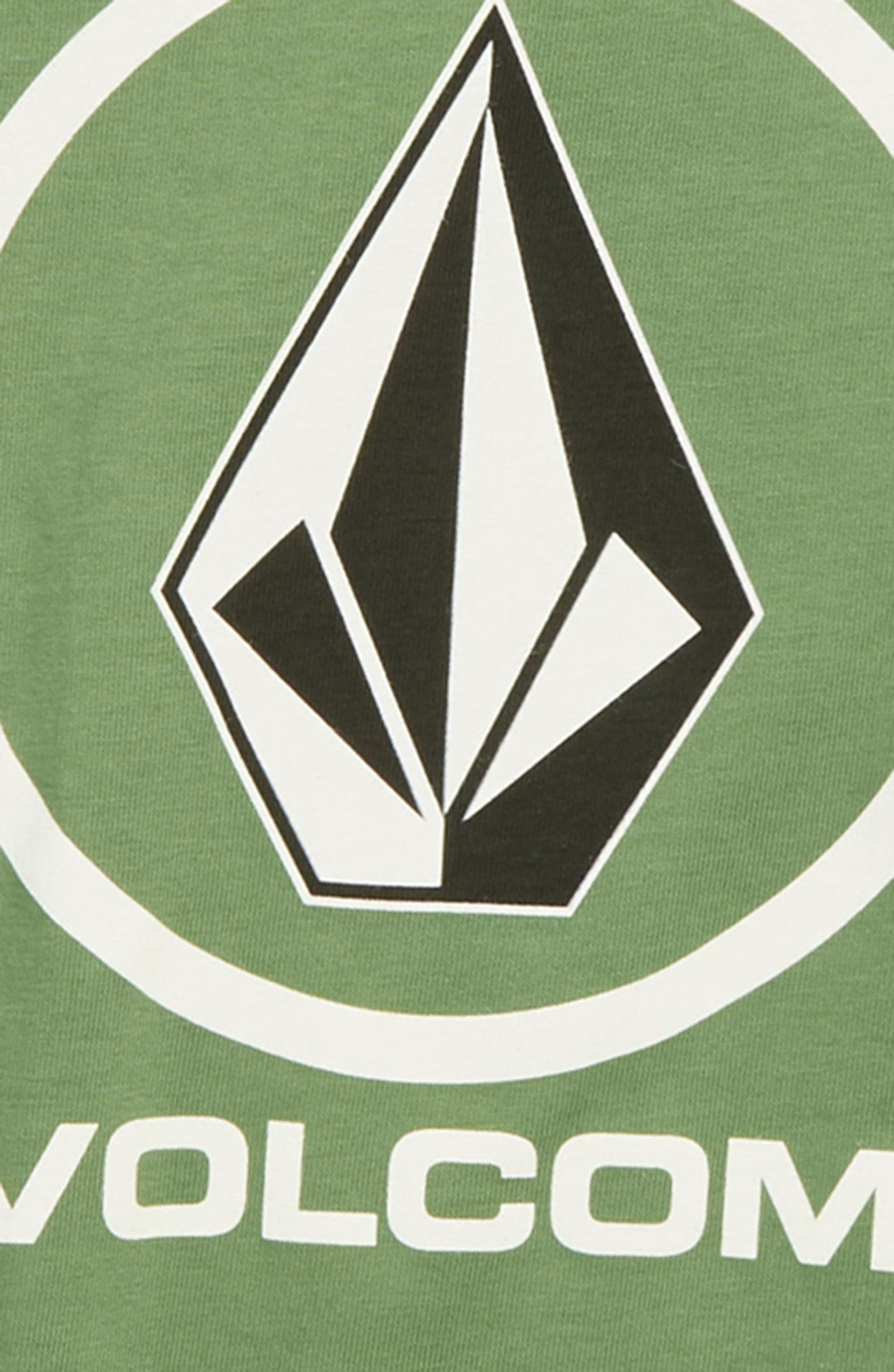Crisp Stone Logo Graphic T-Shirt,                             Alternate thumbnail 3, color,                             DARK KELLY