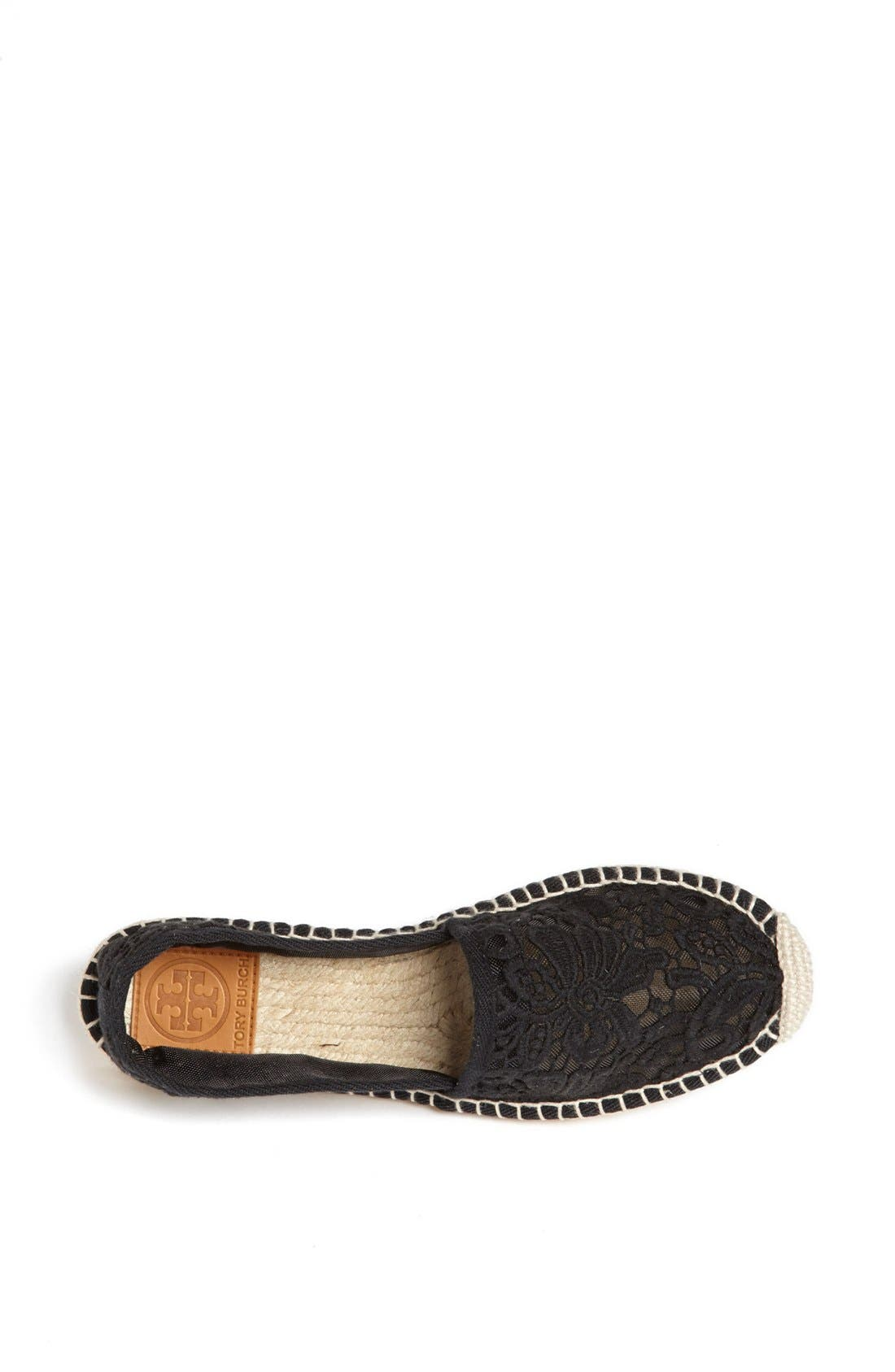 TORY BURCH,                             'Abbe' Espadrille,                             Alternate thumbnail 4, color,                             001