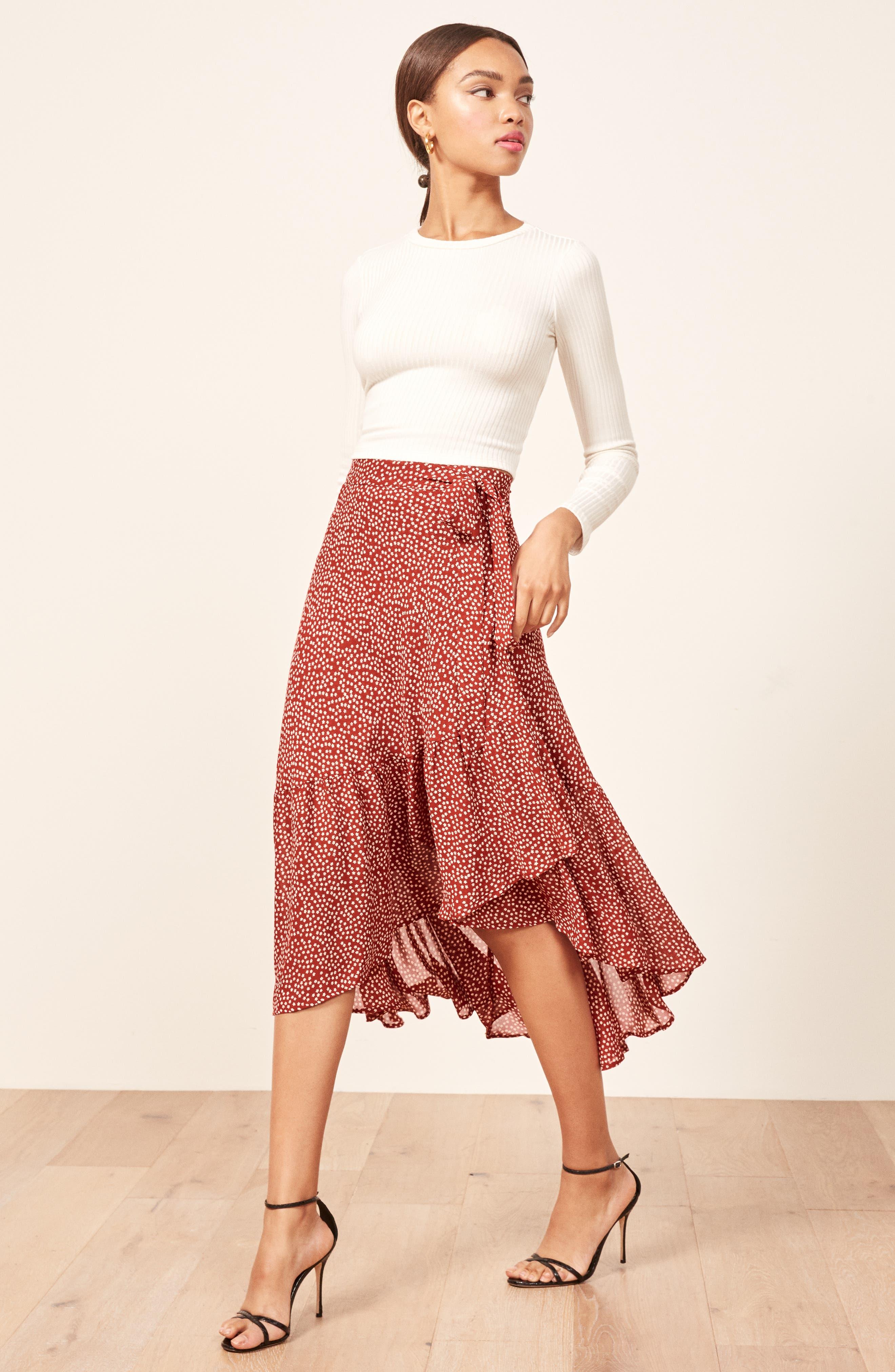 Annaliese Wrap Skirt,                             Alternate thumbnail 4, color,                             600
