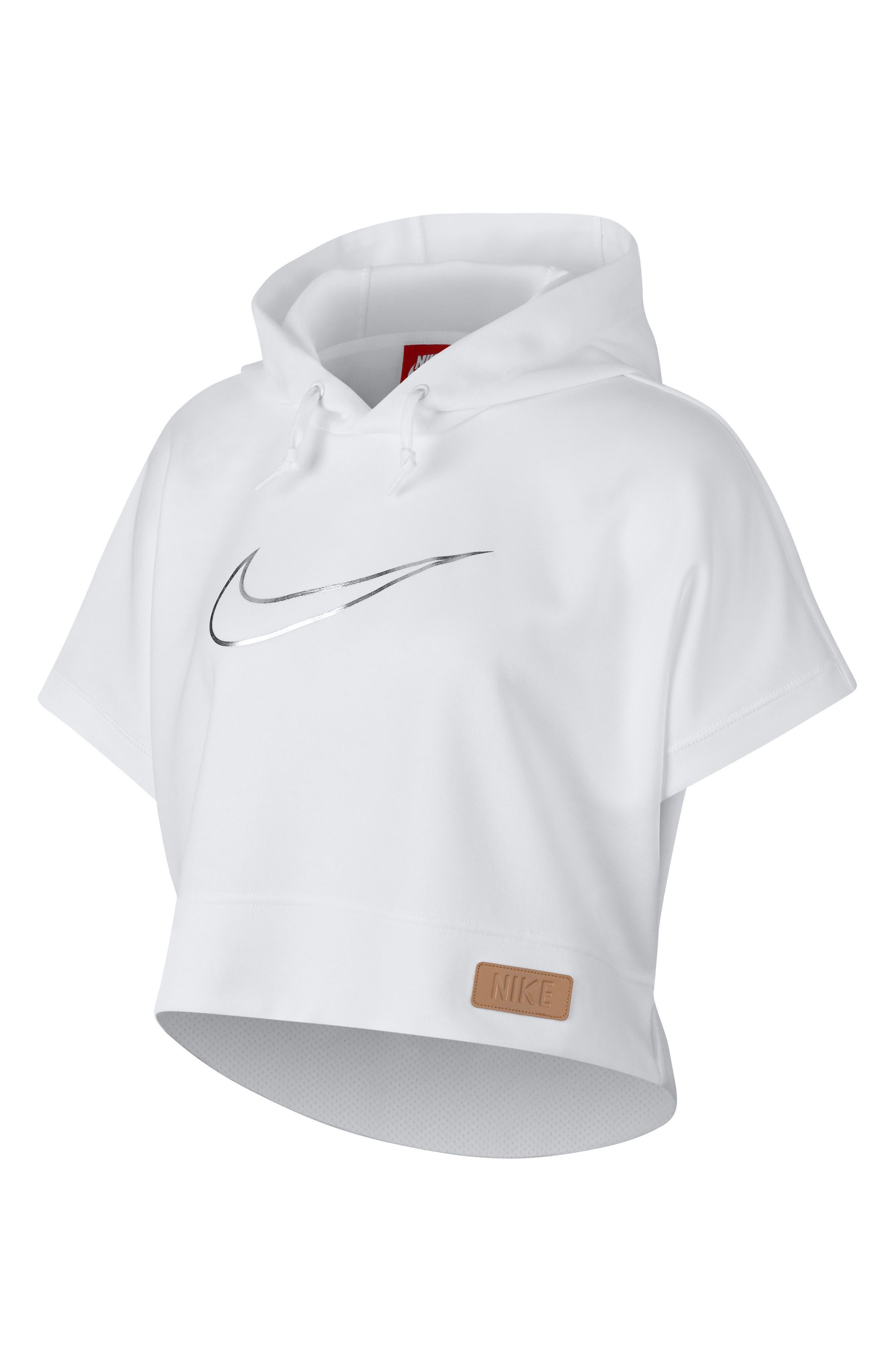 NIKE,                             Sportswear Beautiful x Powerful Crop Hoodie,                             Alternate thumbnail 6, color,                             100
