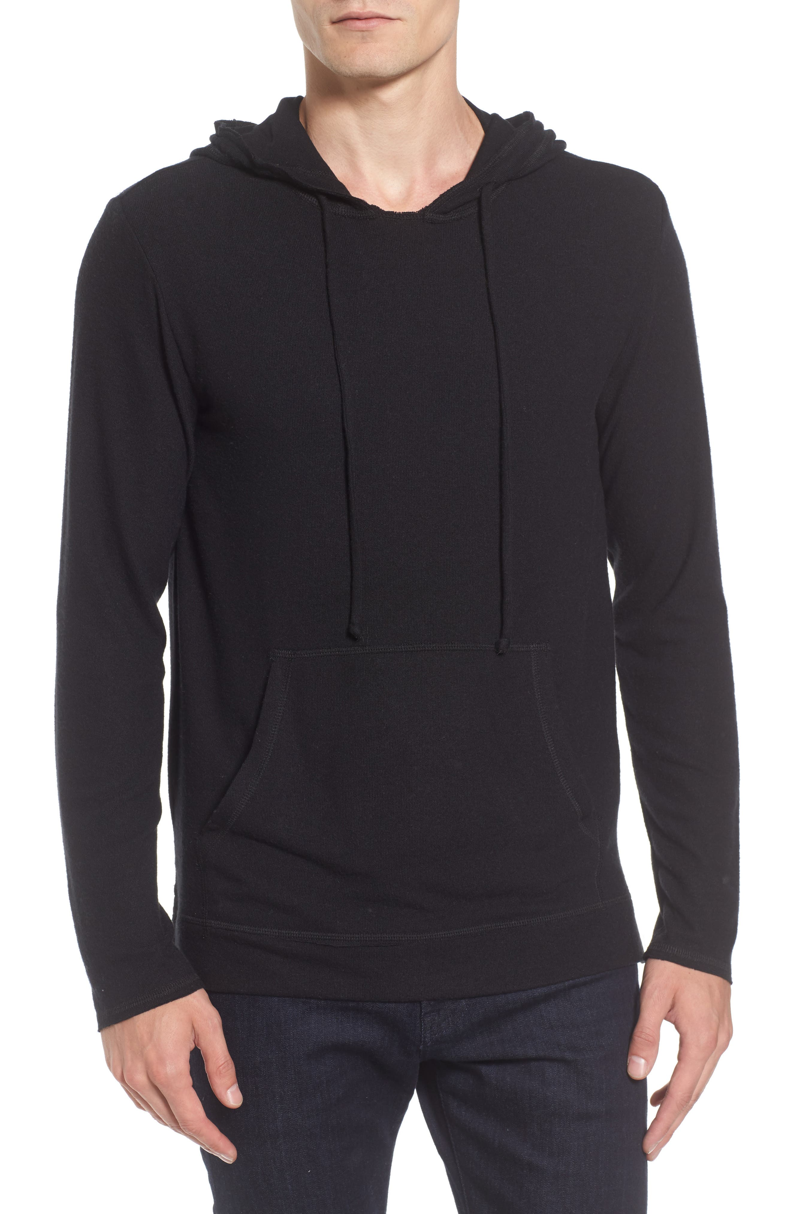 Modern Trim Pullover Hoodie,                         Main,                         color, 001
