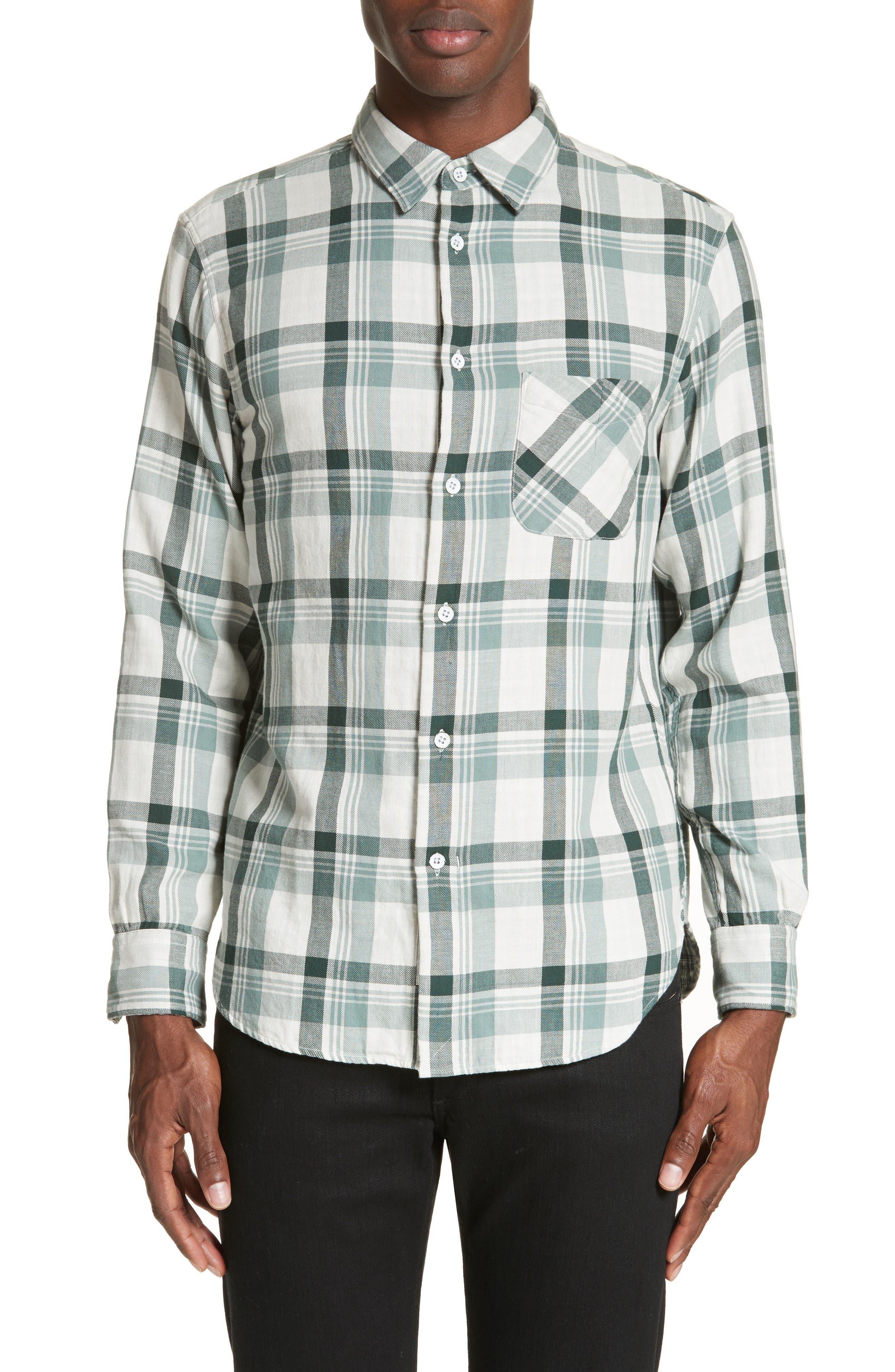 Plaid Woven Shirt,                         Main,                         color, 320