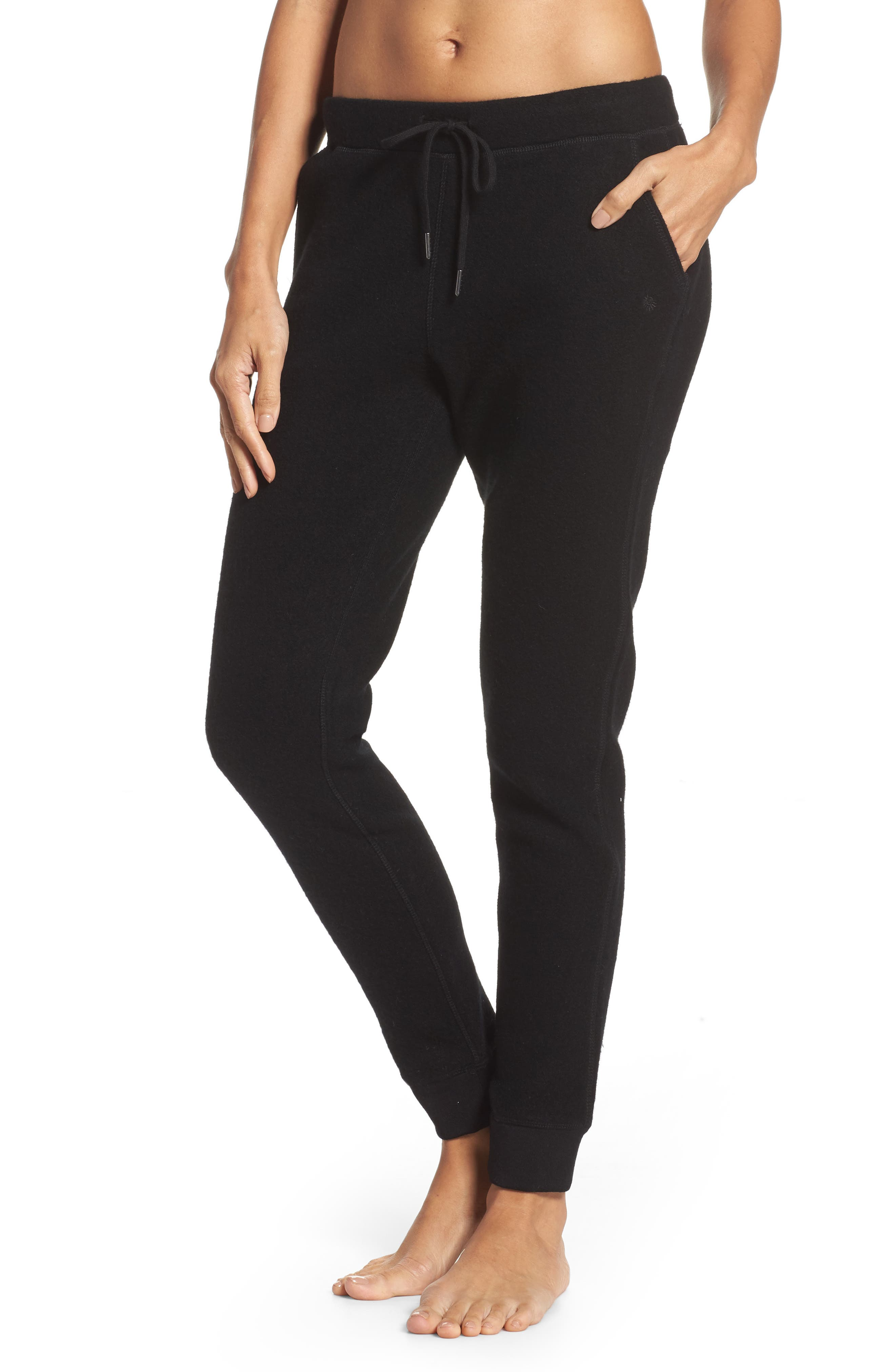 UGG<SUP>®</SUP> Merino Wool Jogger Pants, Main, color, 001