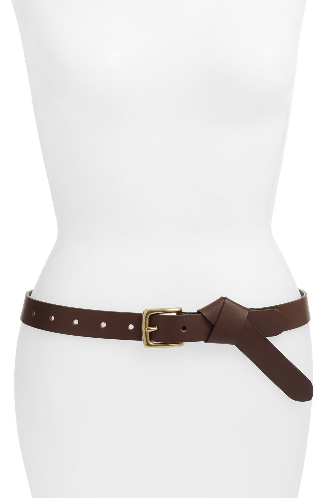 TREASURE & BOND Treasure&Bond Knotted Leather Belt, Main, color, 210