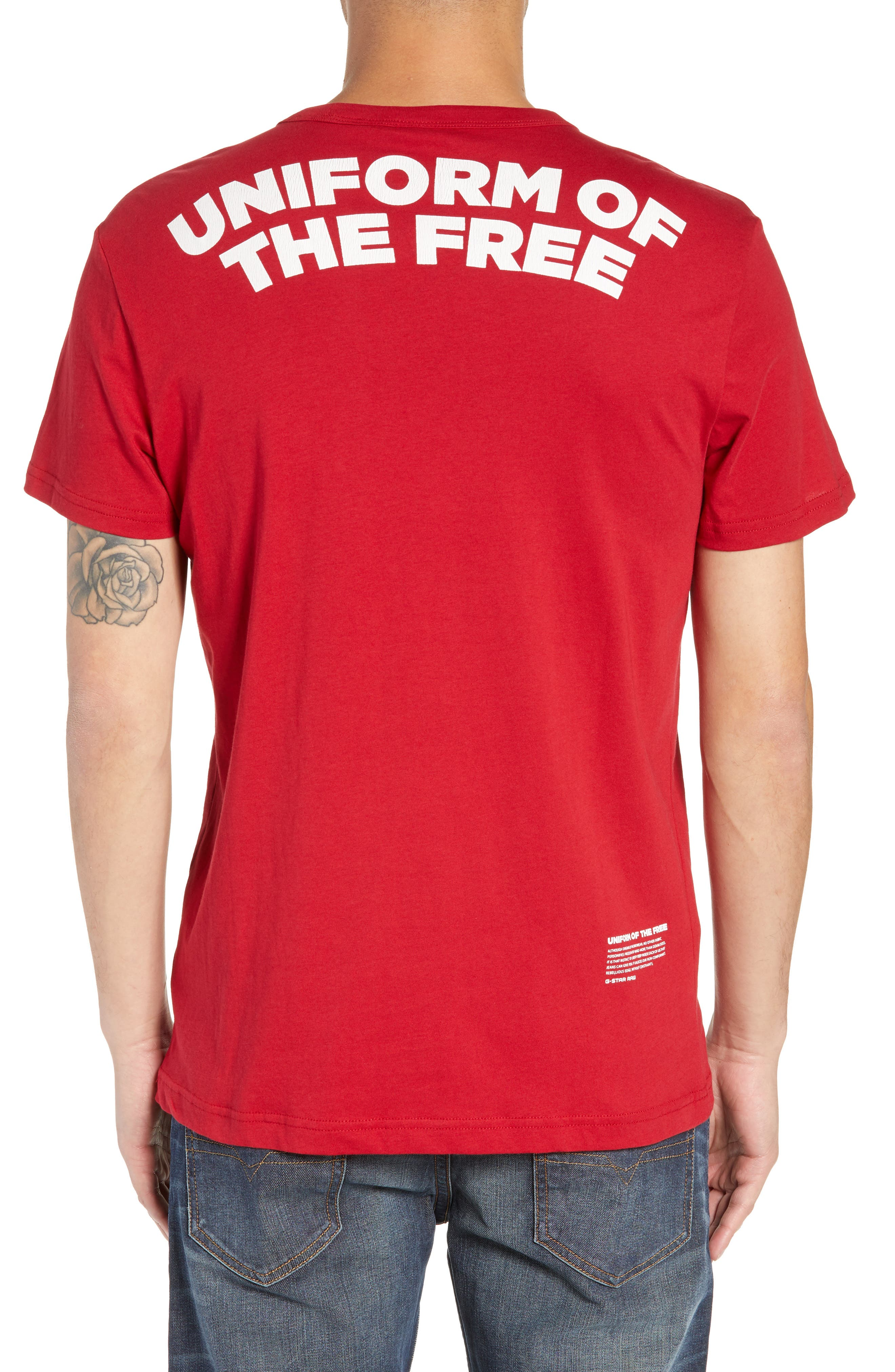 UOTF Pocket T-Shirt,                             Alternate thumbnail 2, color,                             CHILI RED