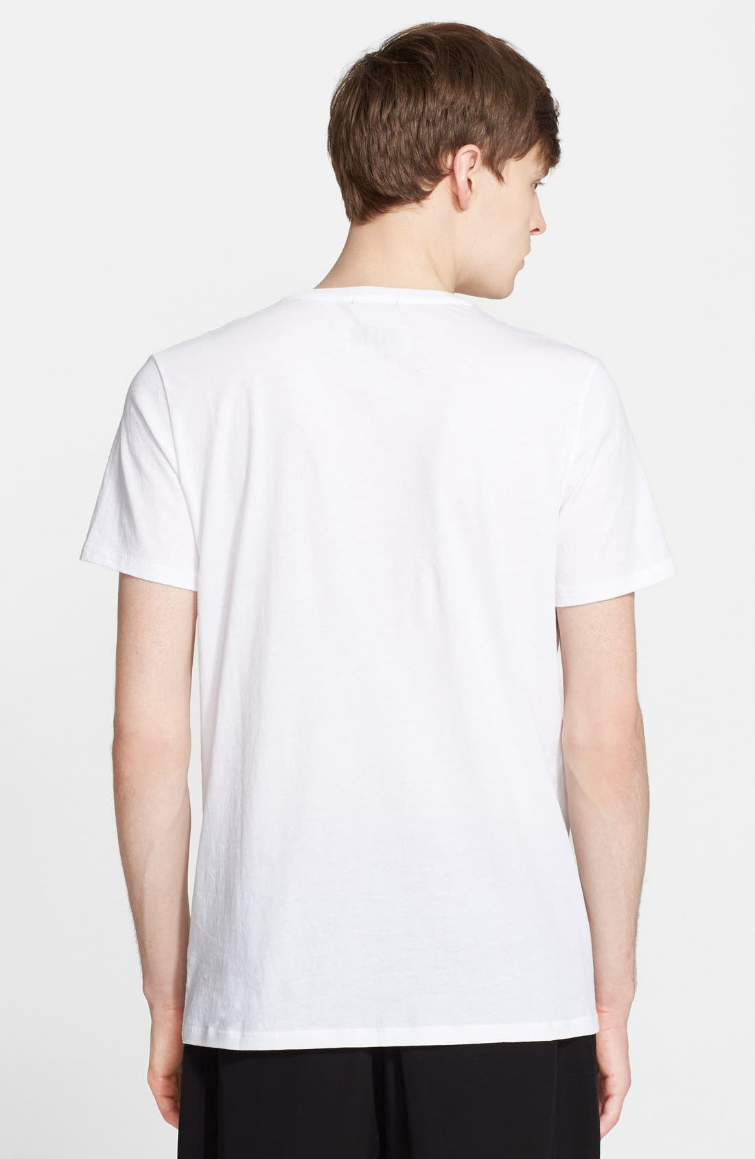Cotton Jersey T-Shirt,                             Alternate thumbnail 7, color,                             WHITE