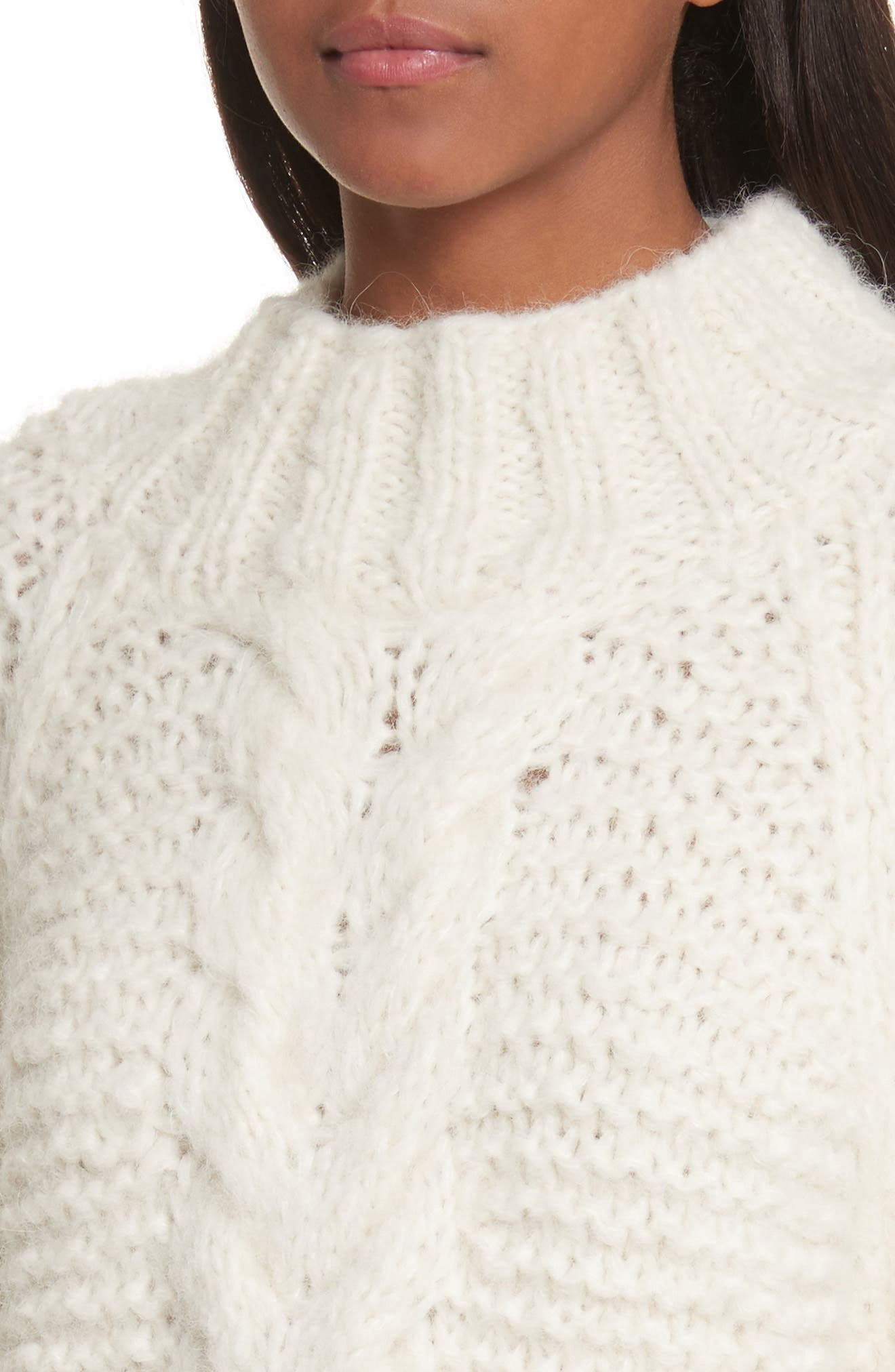 Cable Knit Pullover,                             Alternate thumbnail 4, color,                             902