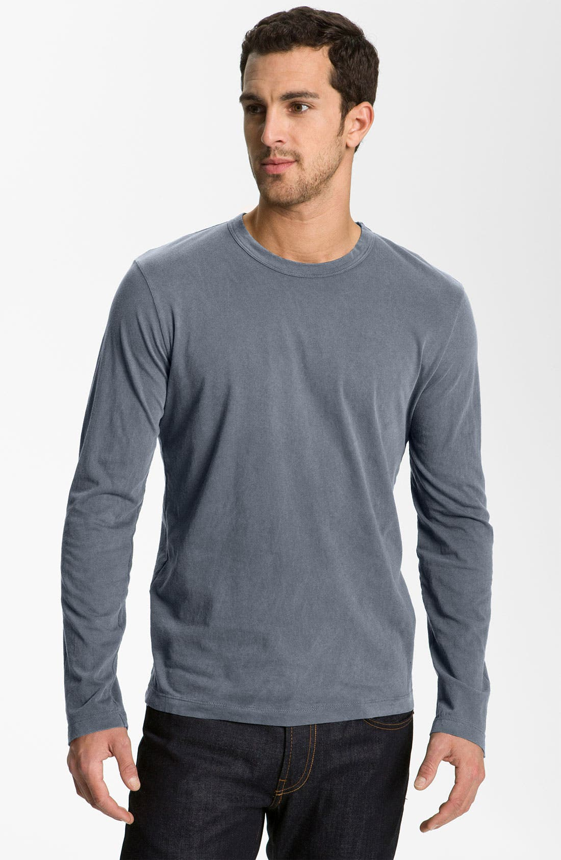 Long Sleeve Crewneck T-Shirt,                             Main thumbnail 2, color,