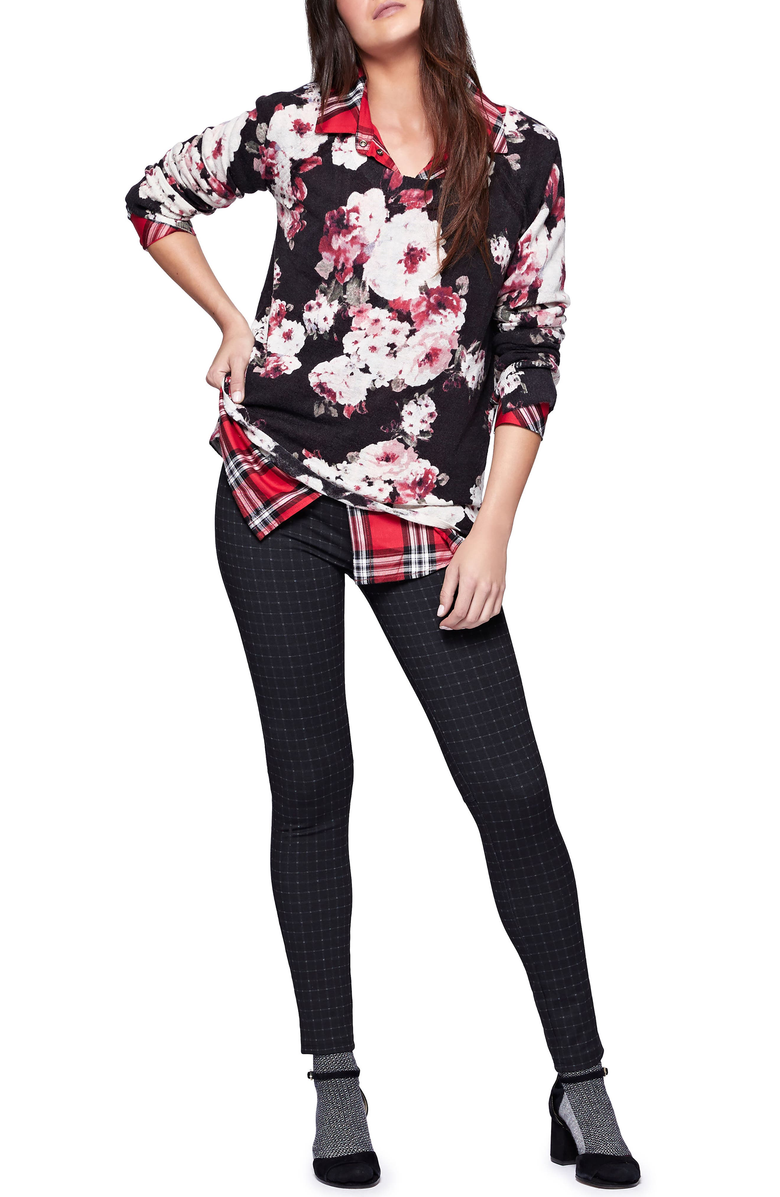 Rose Bloom Sweater,                             Alternate thumbnail 3, color,                             009