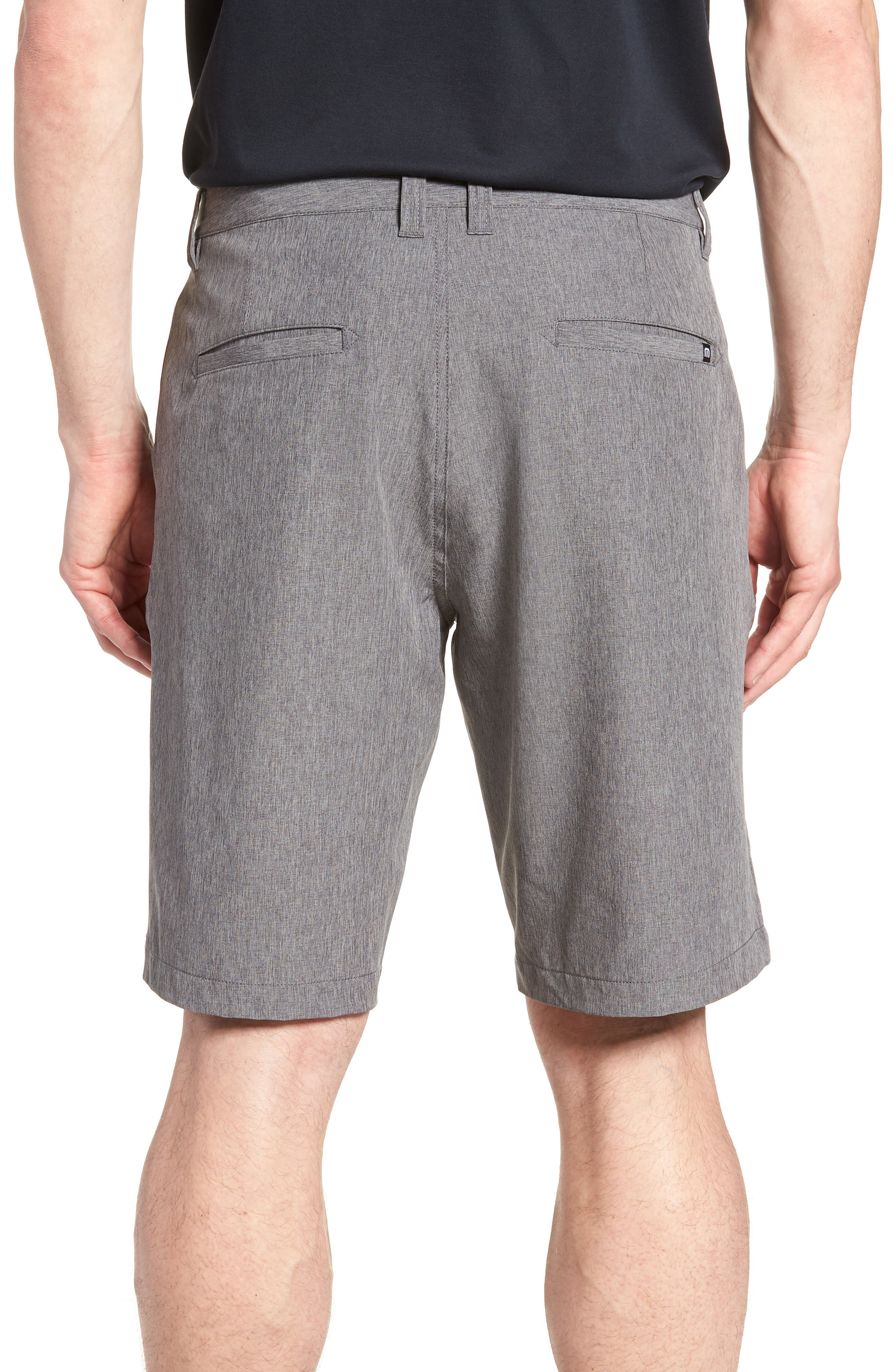 'Palladium' Performance Stretch Heathered Golf Shorts,                             Alternate thumbnail 2, color,                             021