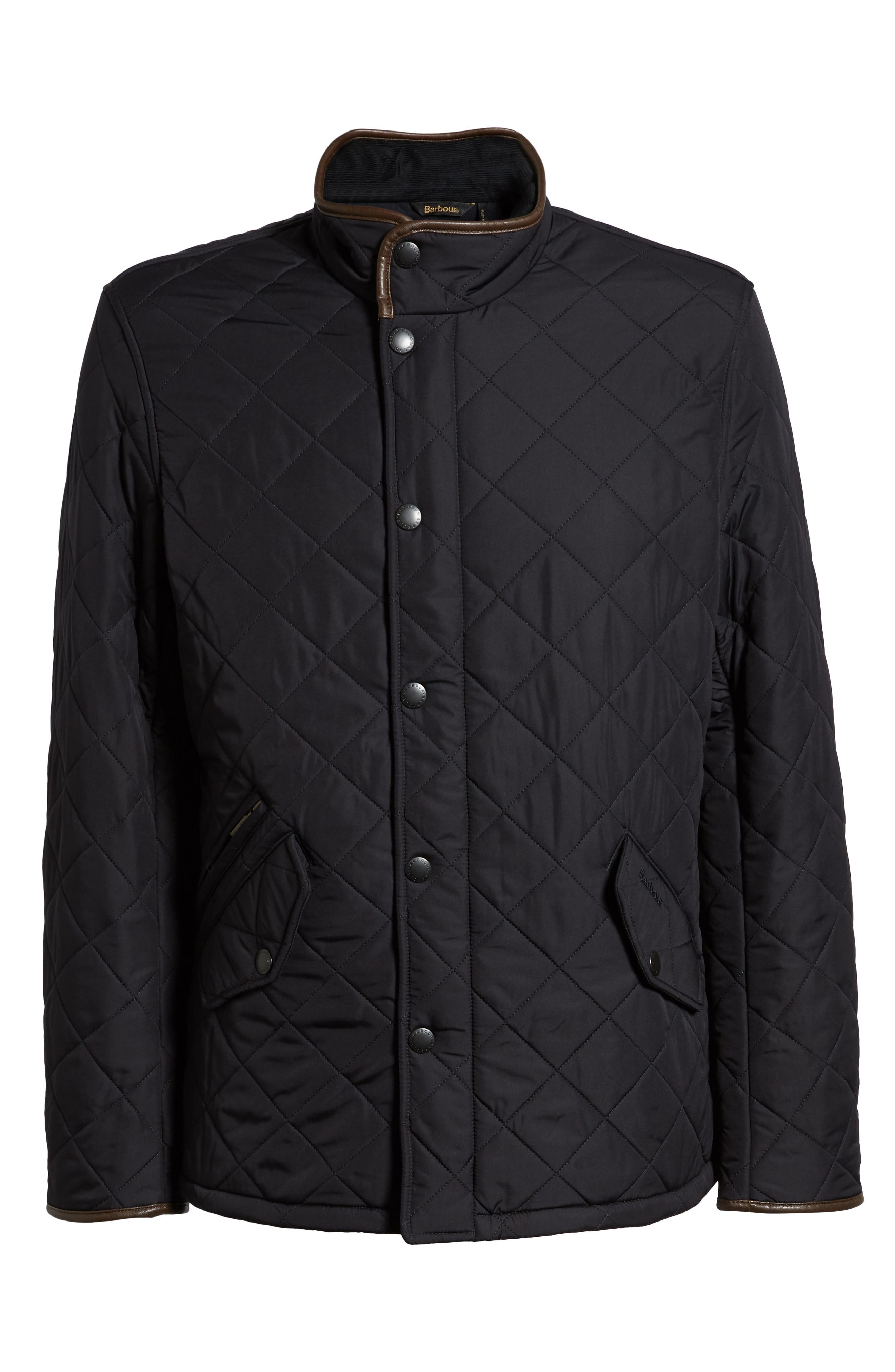 'Powell' Quilted Jacket,                             Main thumbnail 1, color,                             NAVY
