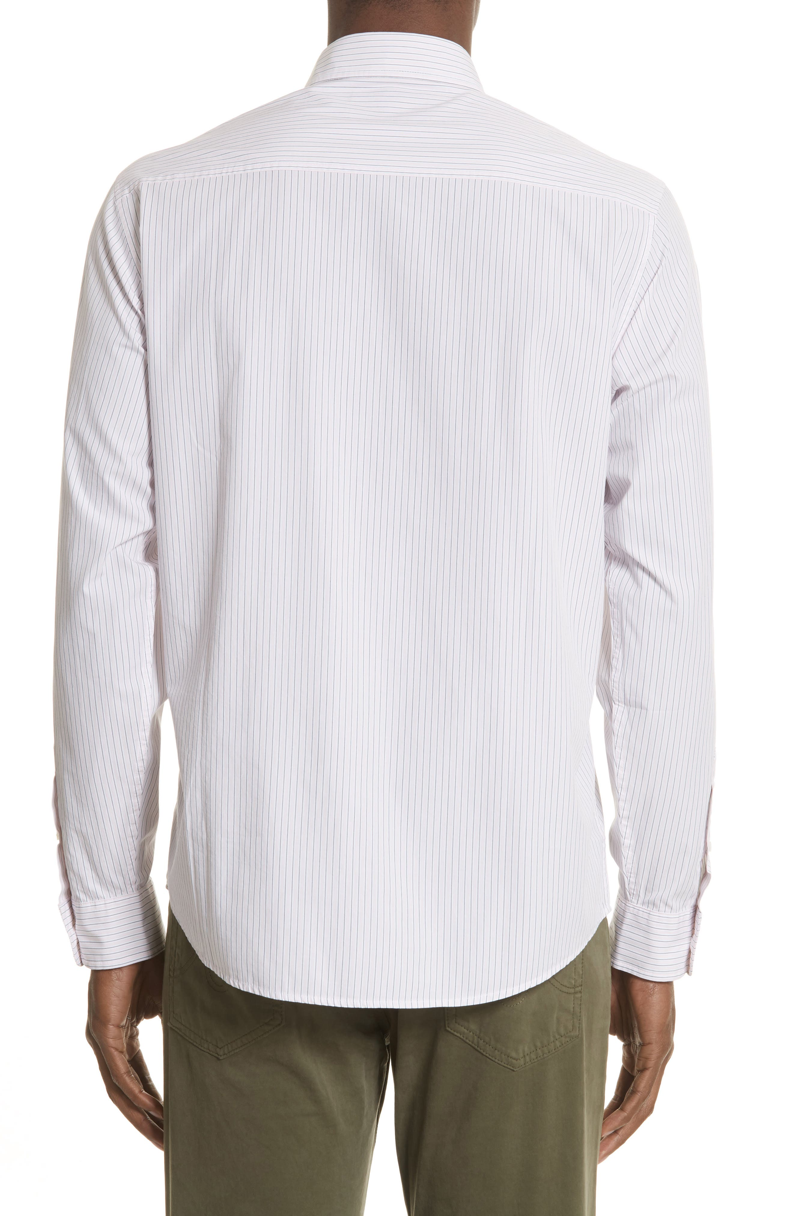 Crane Stripe Woven Shirt,                             Alternate thumbnail 2, color,                             630