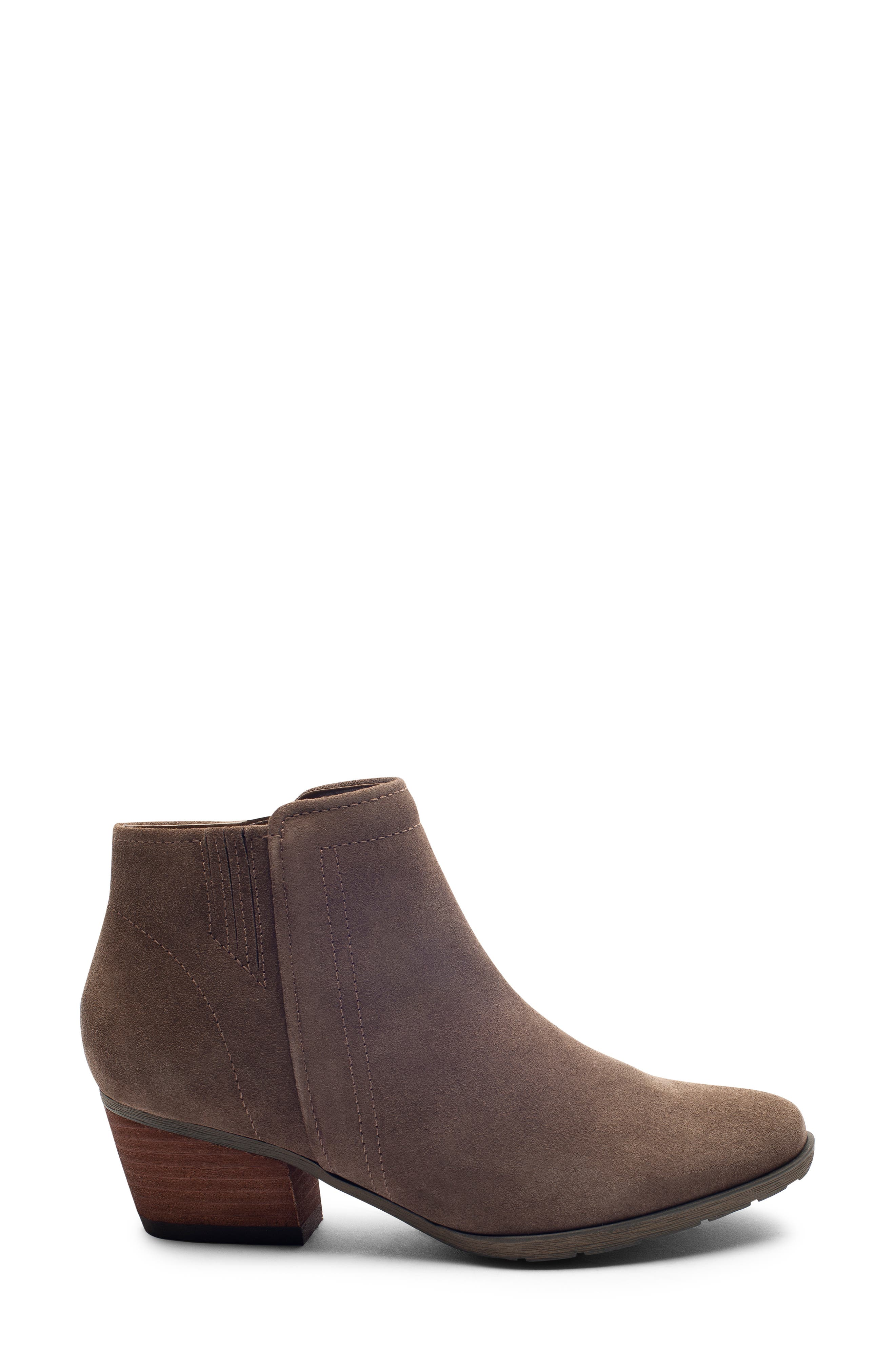 'Valli' Waterproof  Bootie,                             Alternate thumbnail 2, color,                             DARK TAUPE SUEDE