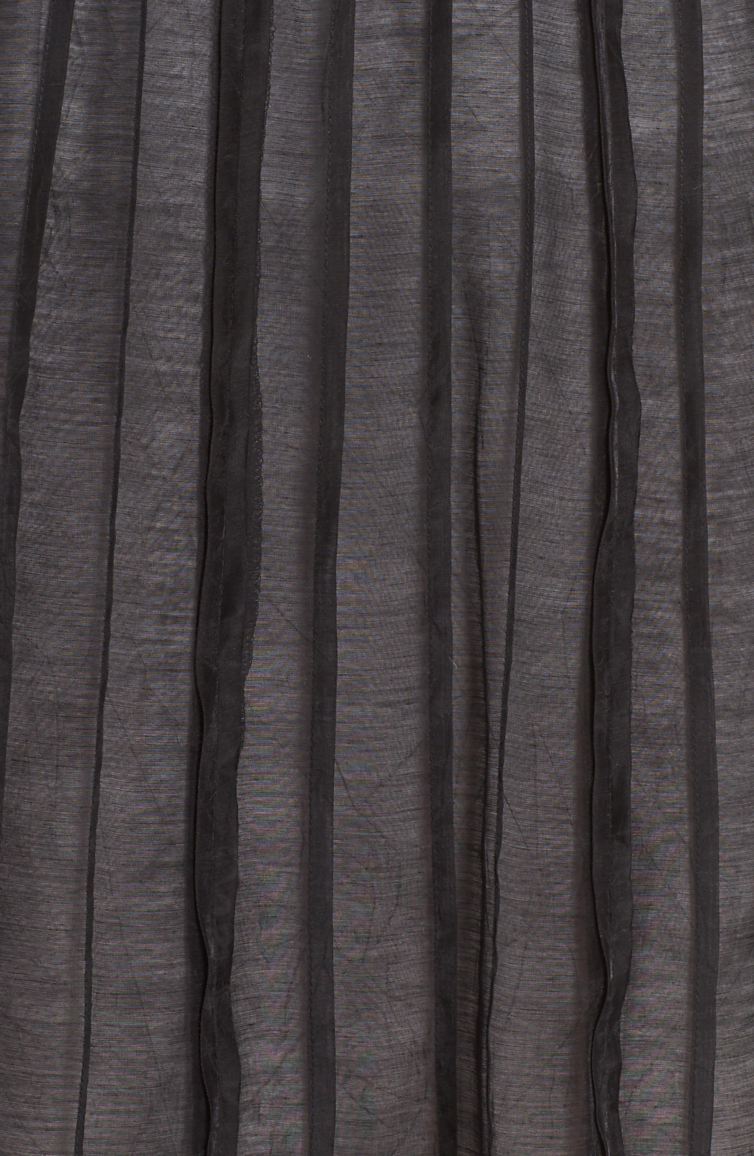 Batiste Flirt Skirt,                             Alternate thumbnail 5, color,                             BLACK ONYX