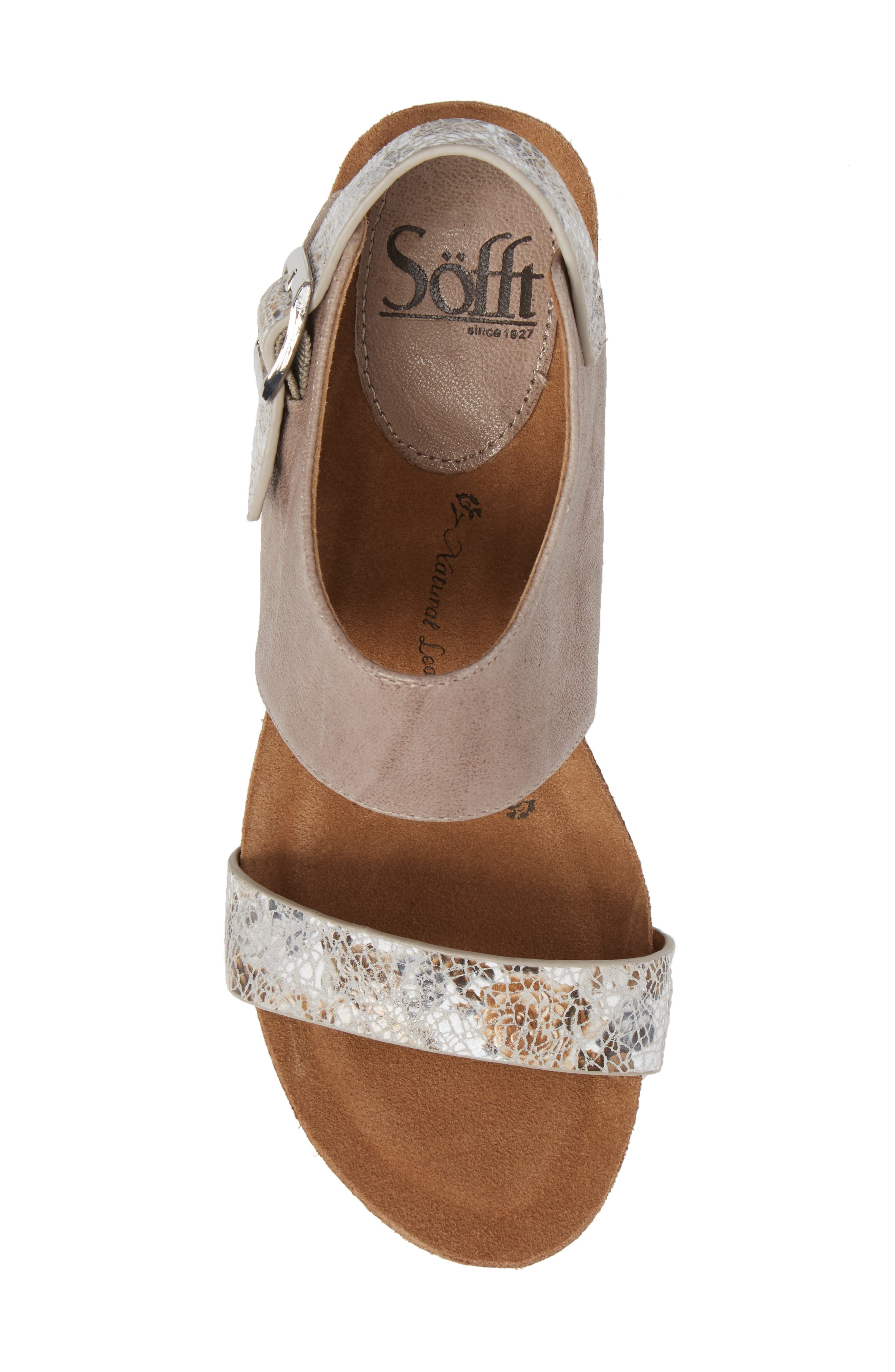 'Vanita' Leather Sandal,                             Alternate thumbnail 5, color,                             031