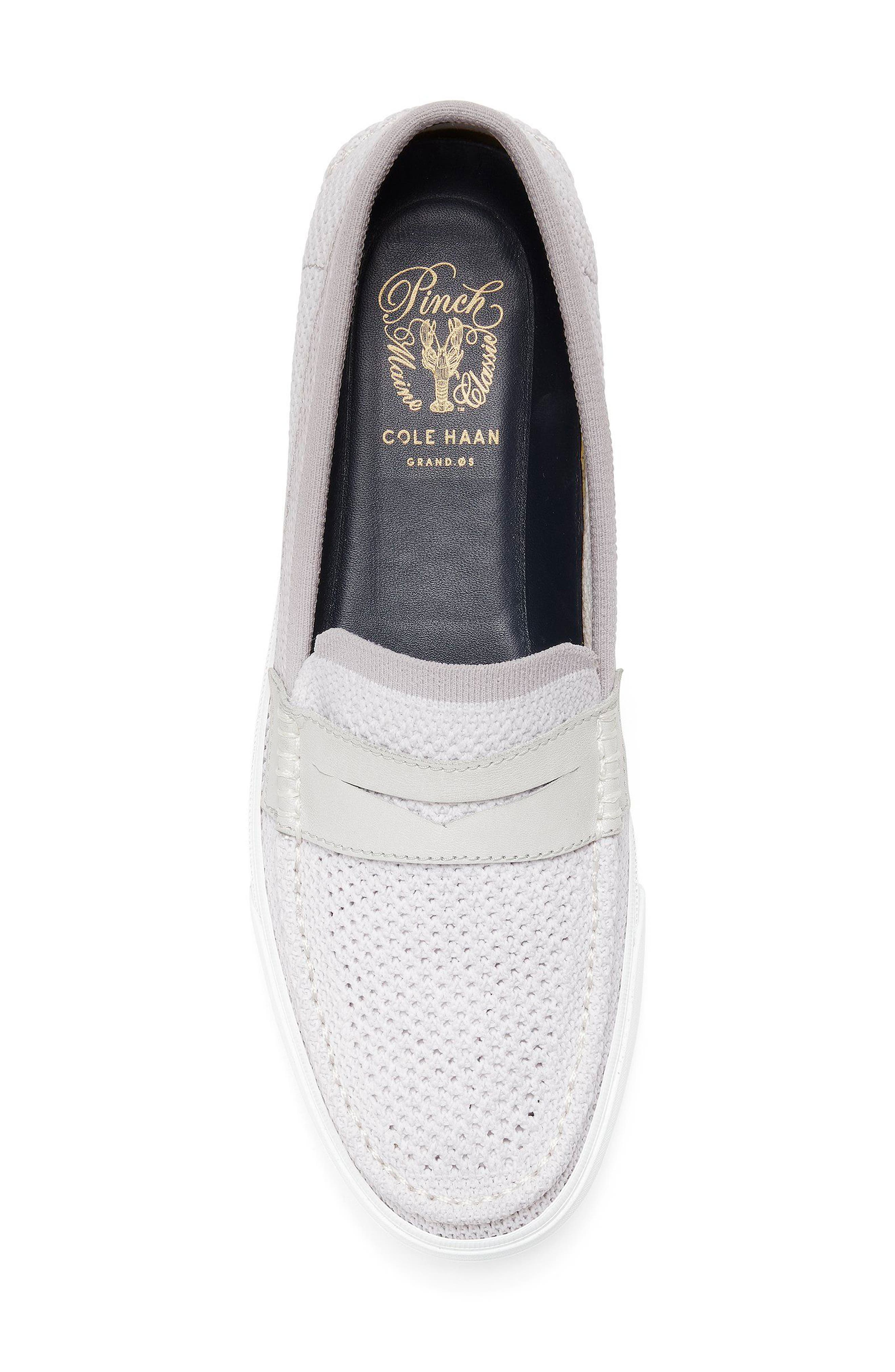 Pinch Stitch LX Stitchlite<sup>™</sup> Penny Loafer,                             Alternate thumbnail 5, color,                             VAPOR GREY /OPTIC WHITE