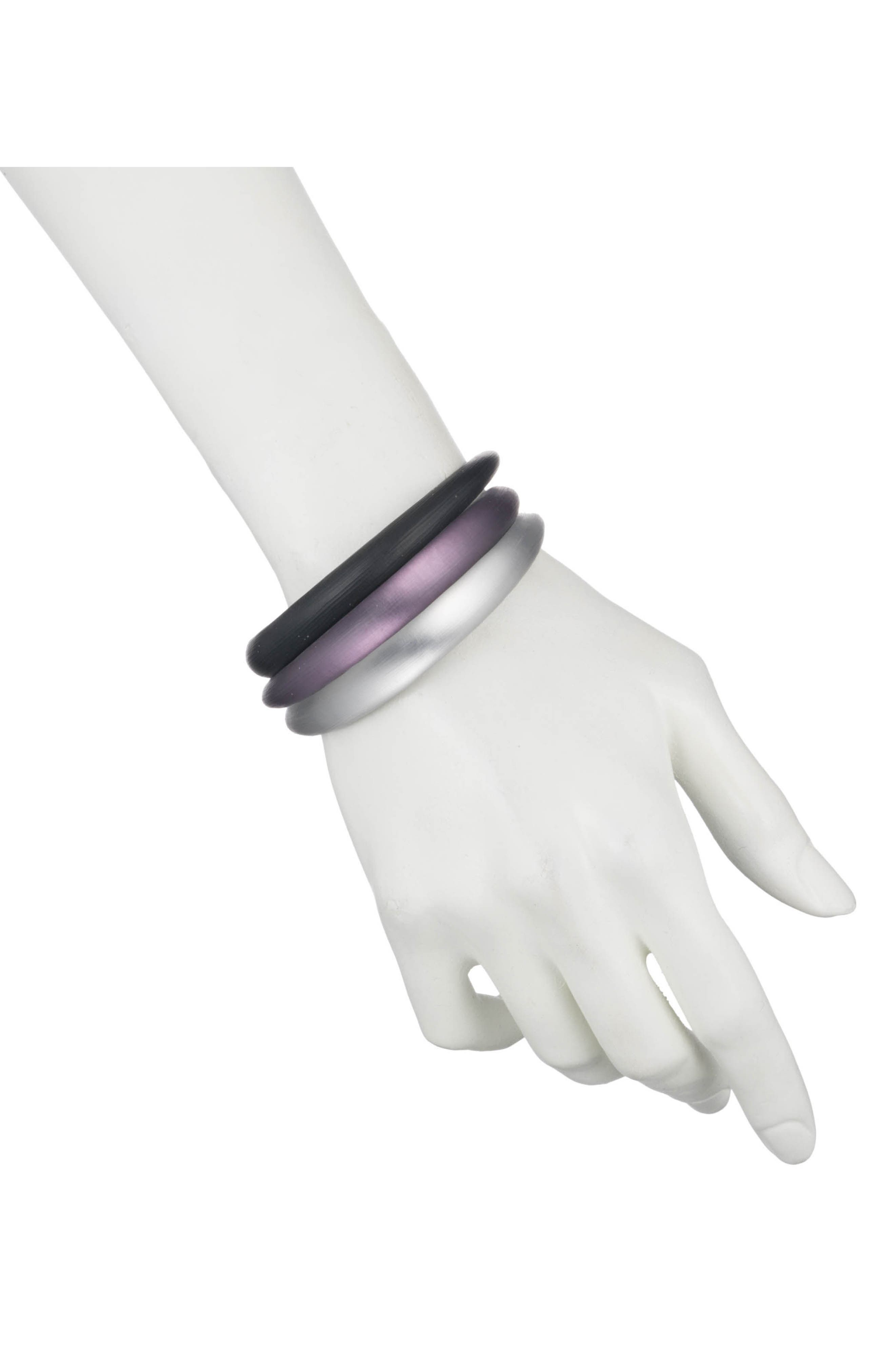 Lucite<sup>®</sup> Set of 3 Tapered Bangles,                             Alternate thumbnail 2, color,                             001