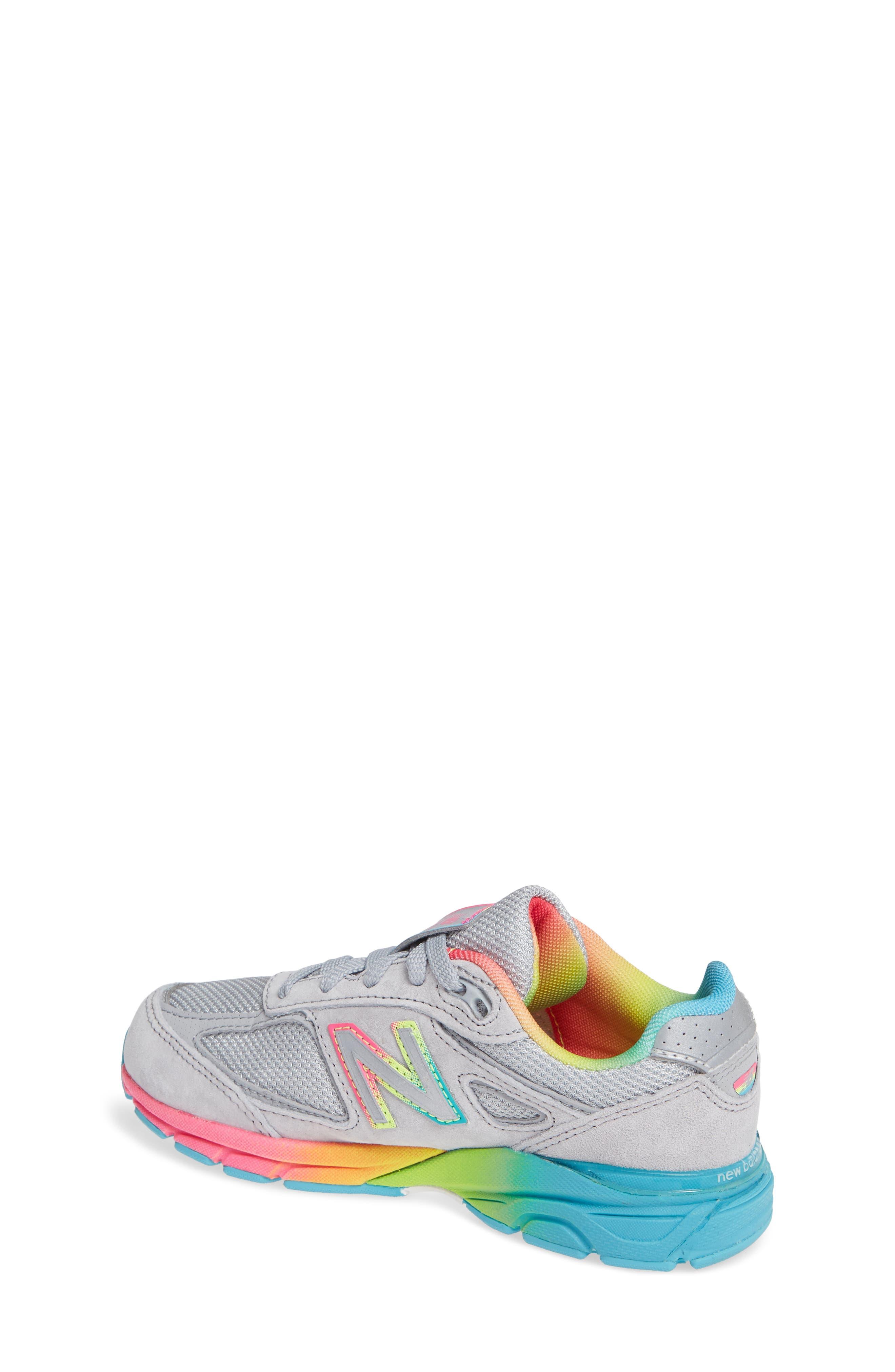 990v4 Sneaker,                             Alternate thumbnail 2, color,                             ATHLETIC GREY/ MULTI