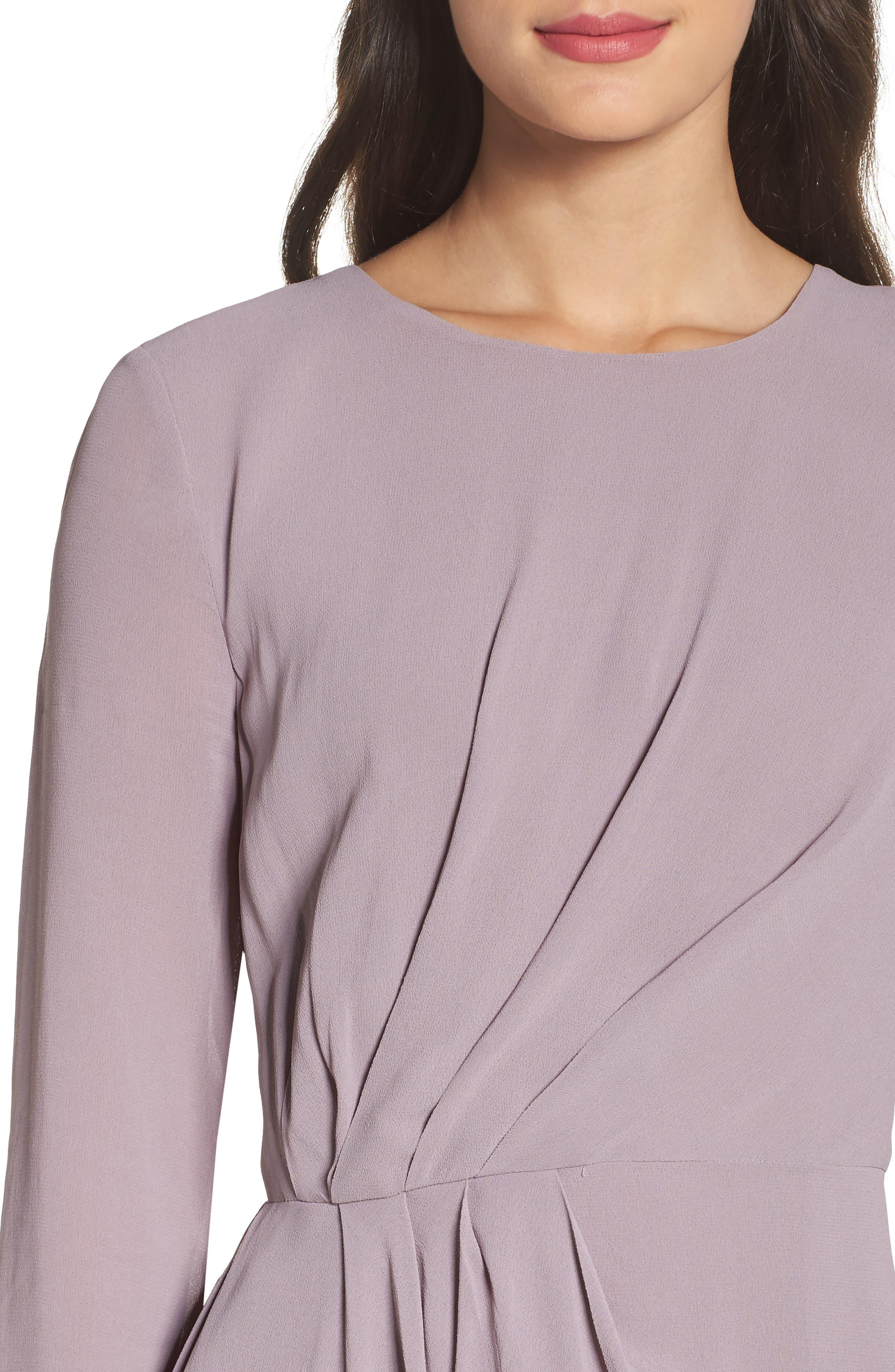 Stilla Asymmetric Drape Dress,                             Alternate thumbnail 4, color,                             535