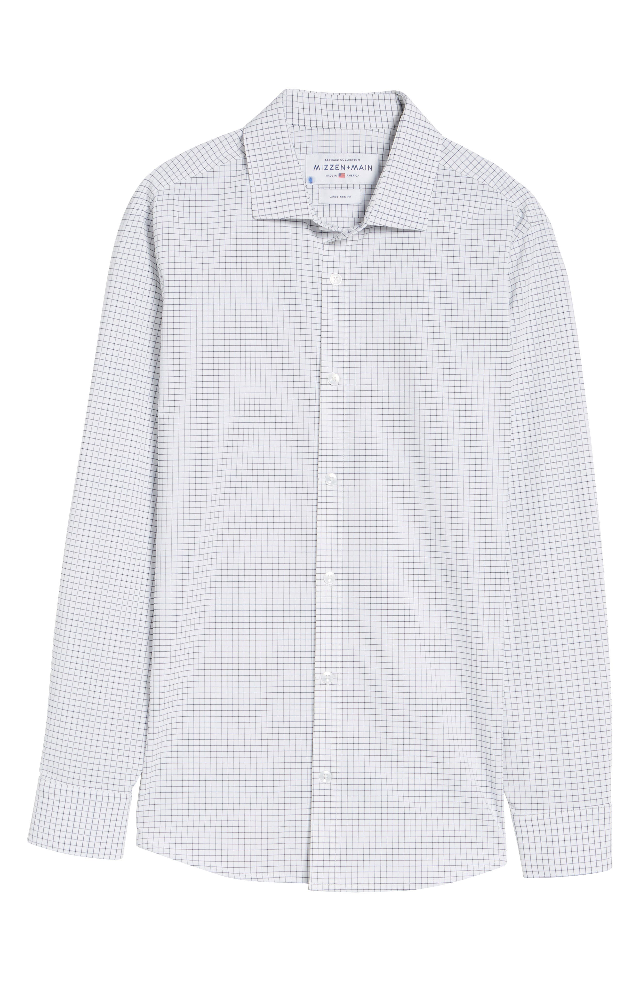 Kennedy Windowpane Sport Shirt,                             Alternate thumbnail 6, color,                             WHITE