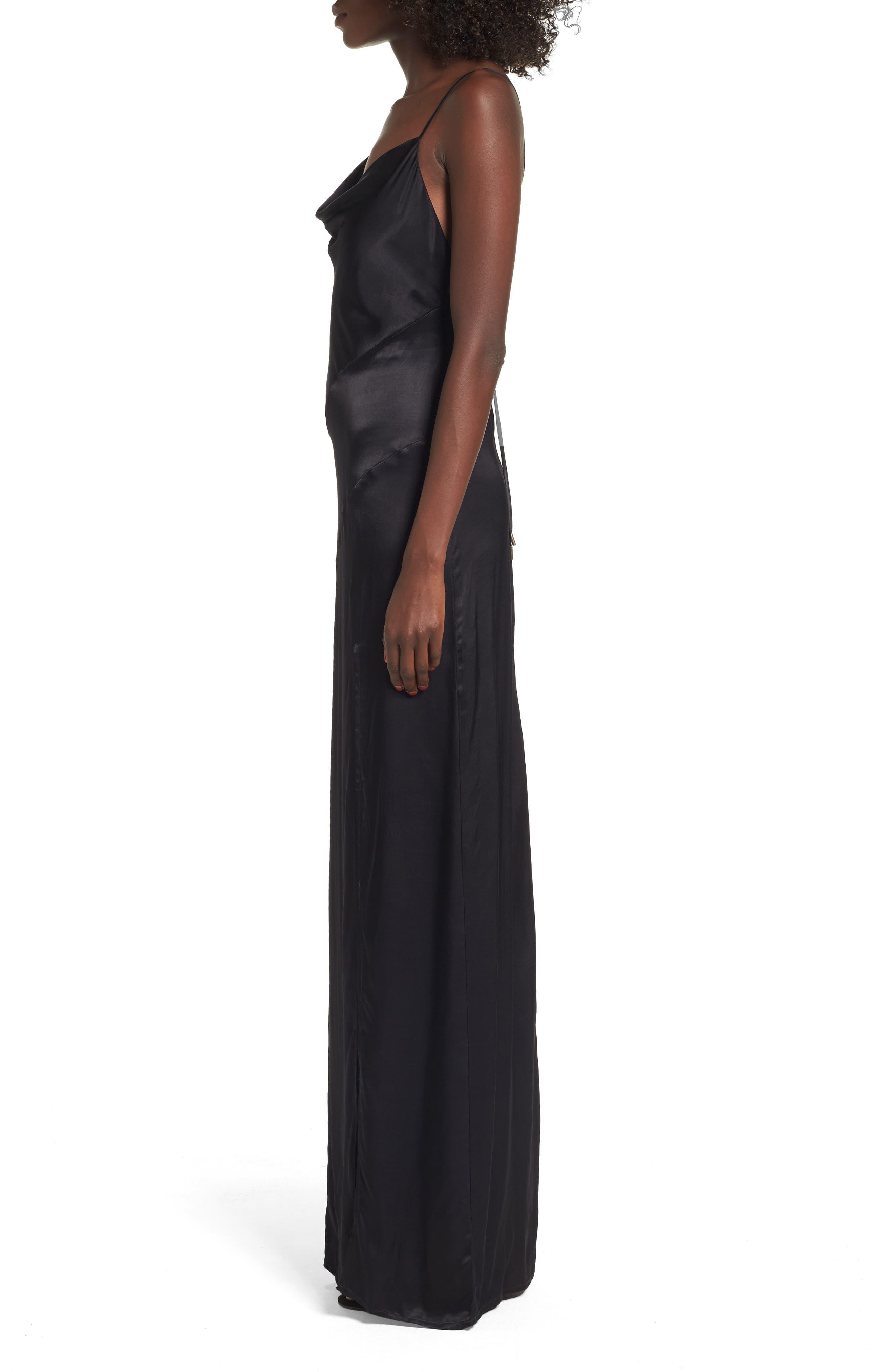 Wyatt Slip Dress,                             Alternate thumbnail 3, color,                             001
