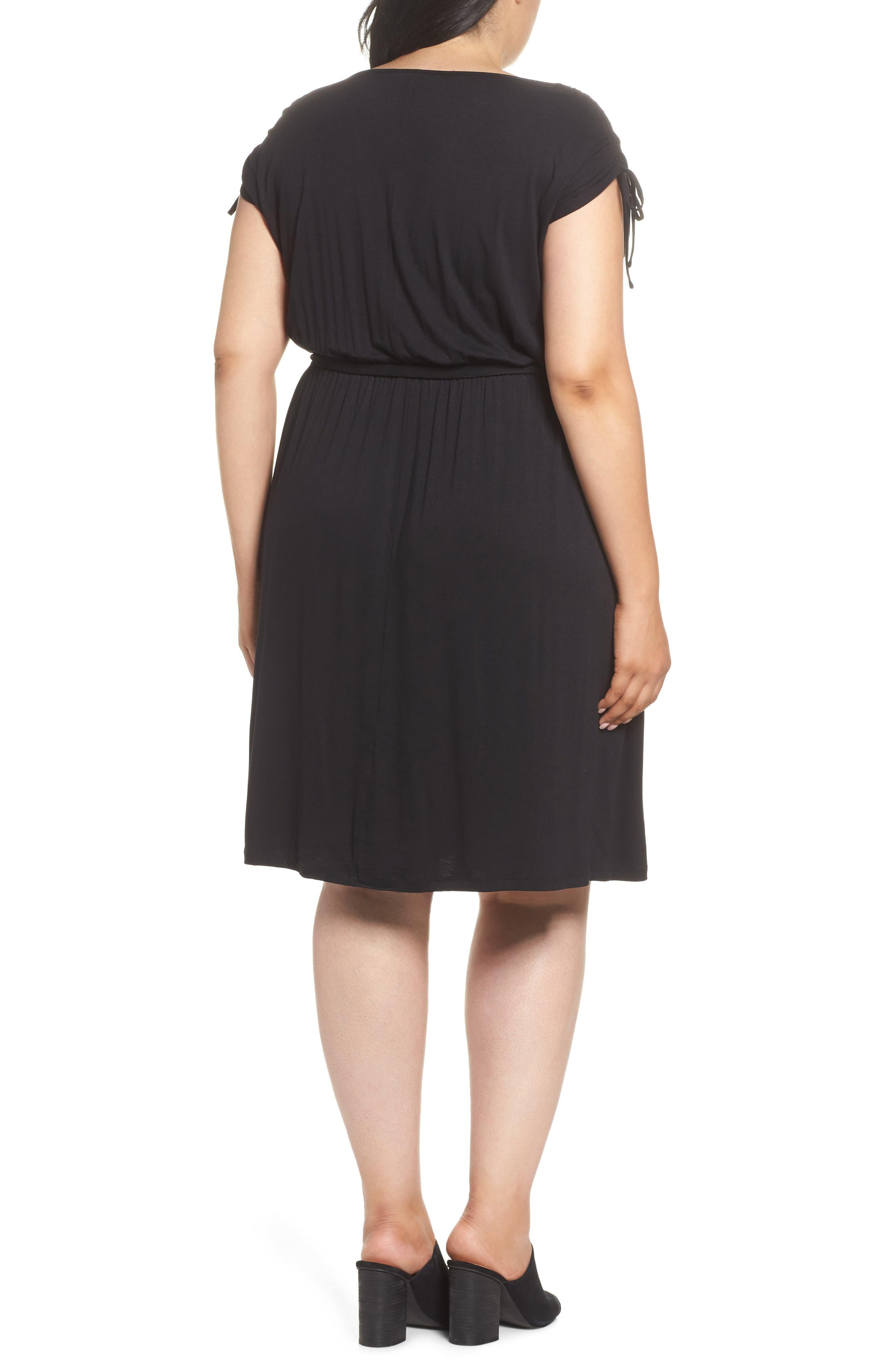 Stretch Jersey Midi Dress,                             Alternate thumbnail 2, color,