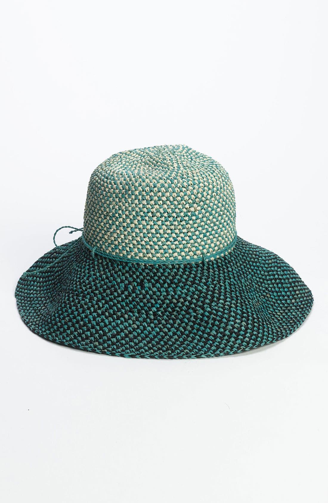 'Provence 12' Packable Raffia Hat,                             Main thumbnail 6, color,