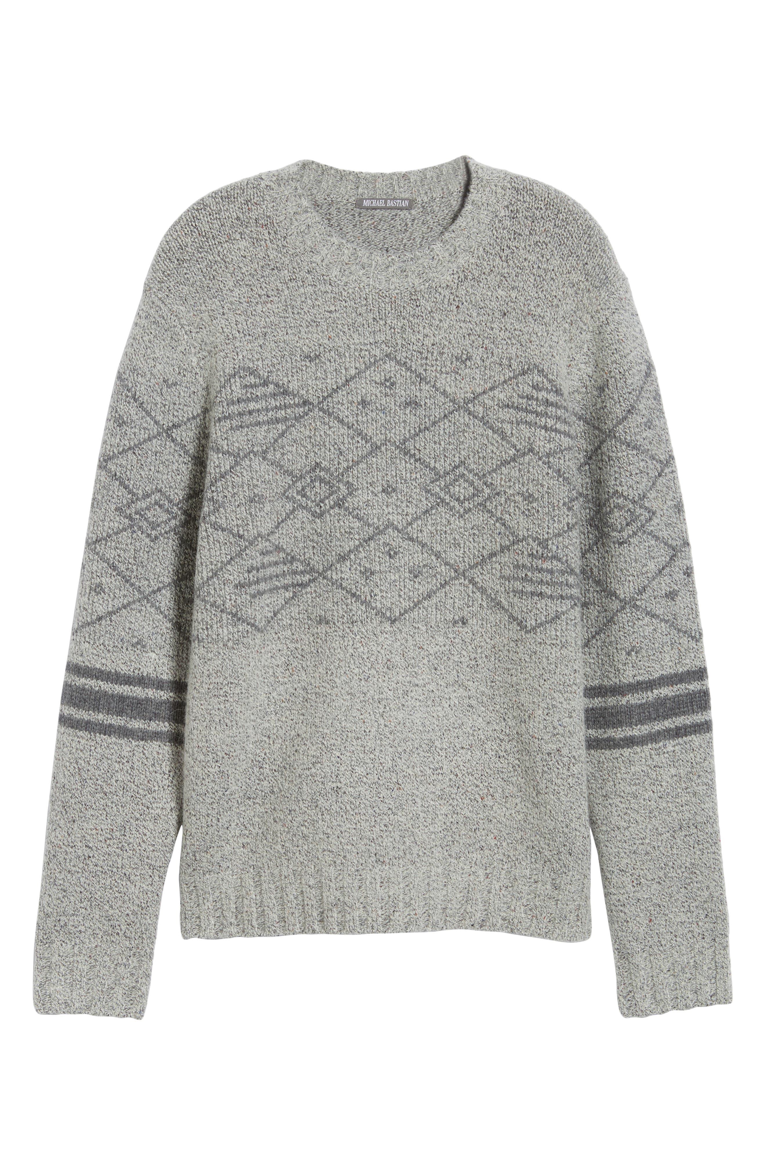 Fair Isle Regular Fit Sweater,                             Alternate thumbnail 6, color,                             060