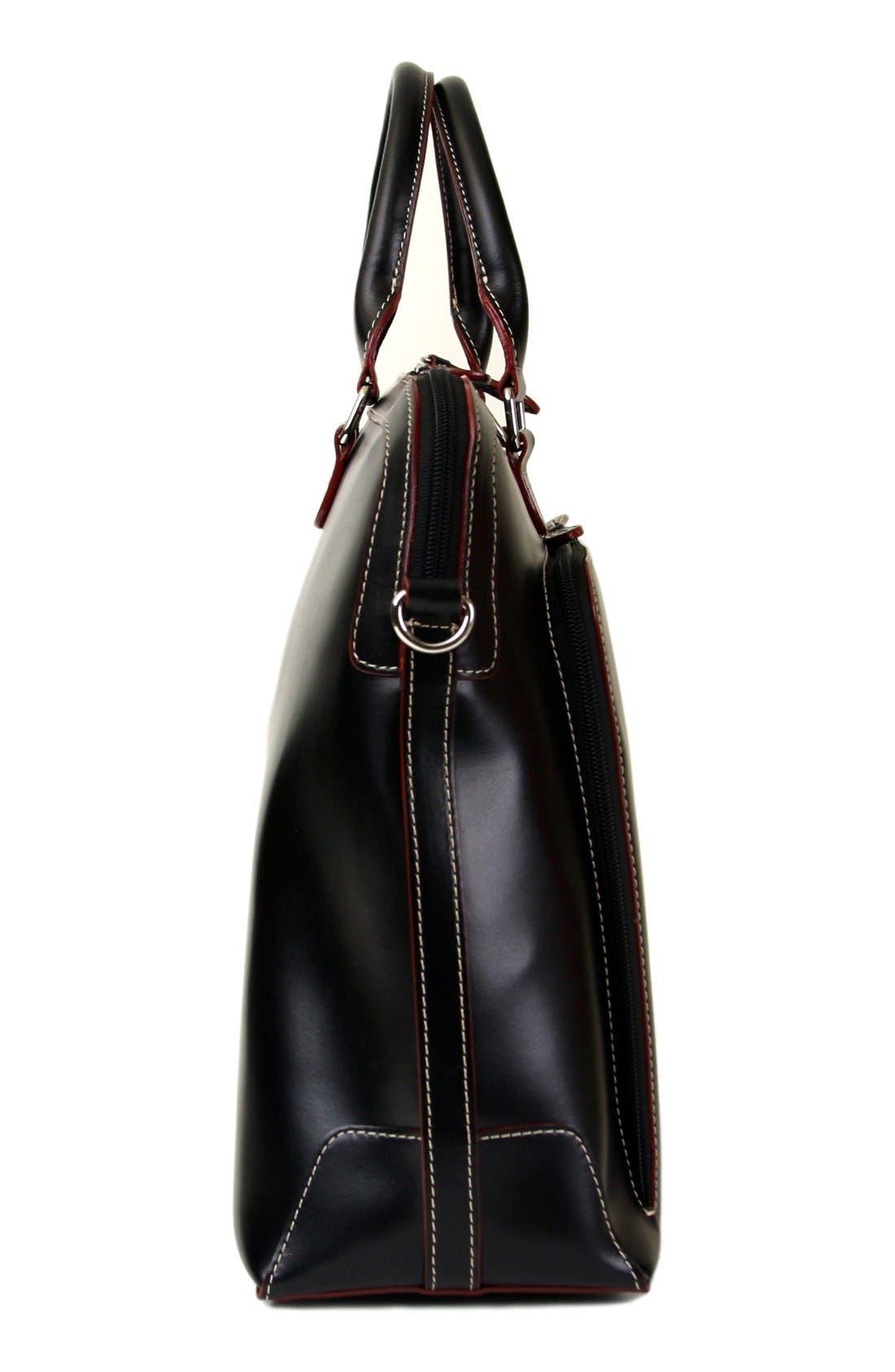 Lodis 'Audrey Brera' Leather Briefcase,                             Alternate thumbnail 9, color,                             001