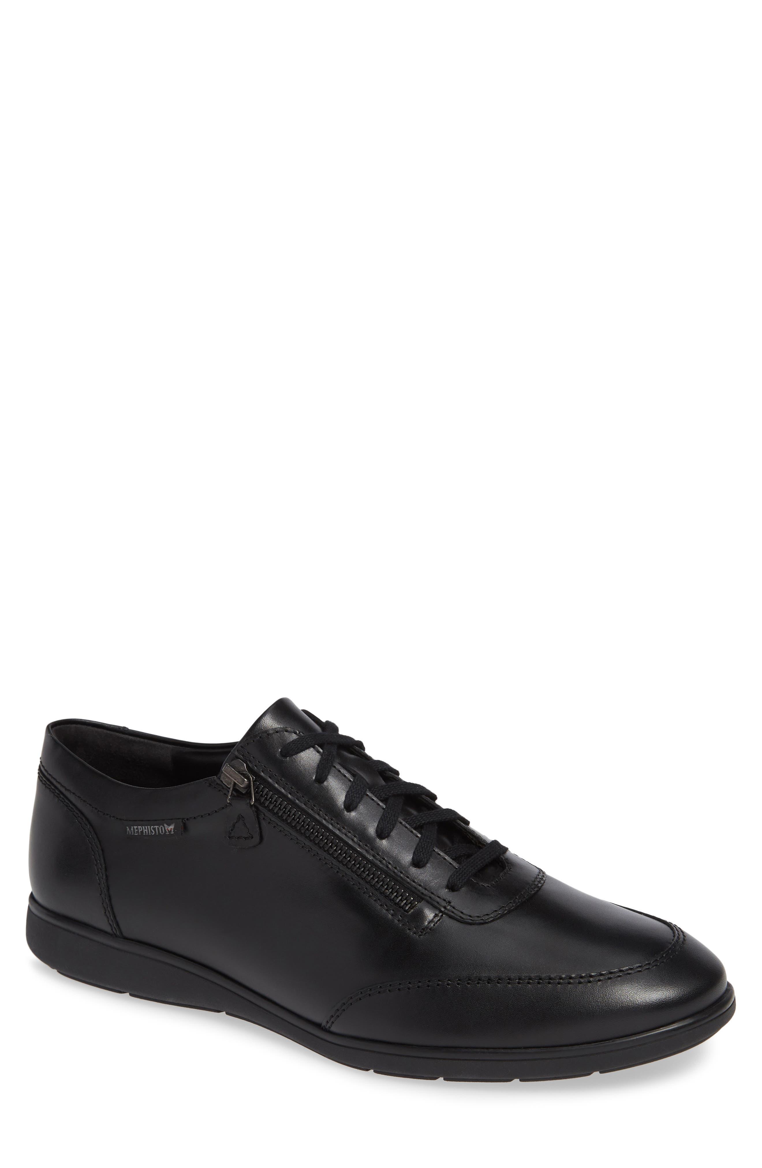 Laurent Zippered Low Top Sneaker,                             Main thumbnail 1, color,                             001