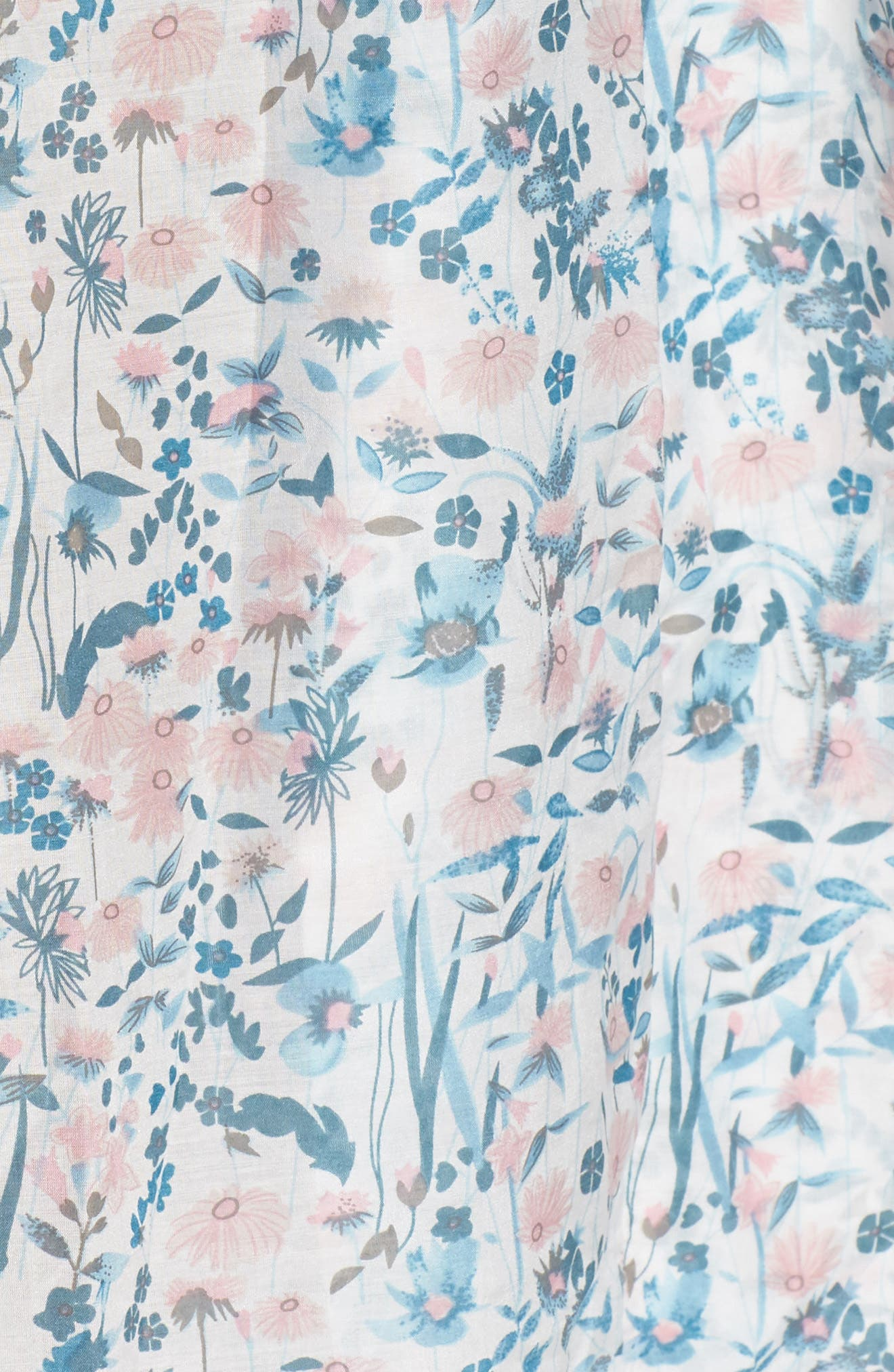 Ellie Floral Robe,                             Alternate thumbnail 5, color,                             BLUE