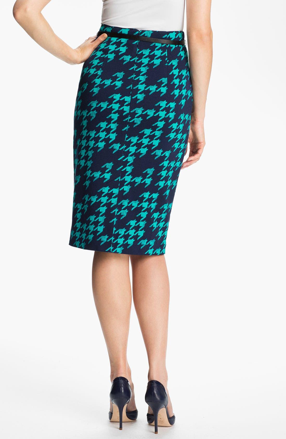 Belted Ponte Skirt,                             Alternate thumbnail 21, color,