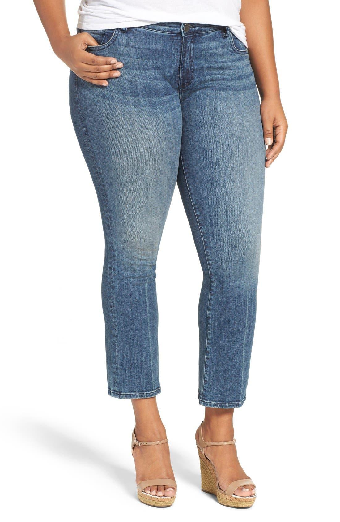 'Reese' Crop Flare Leg Jeans,                             Main thumbnail 1, color,                             453
