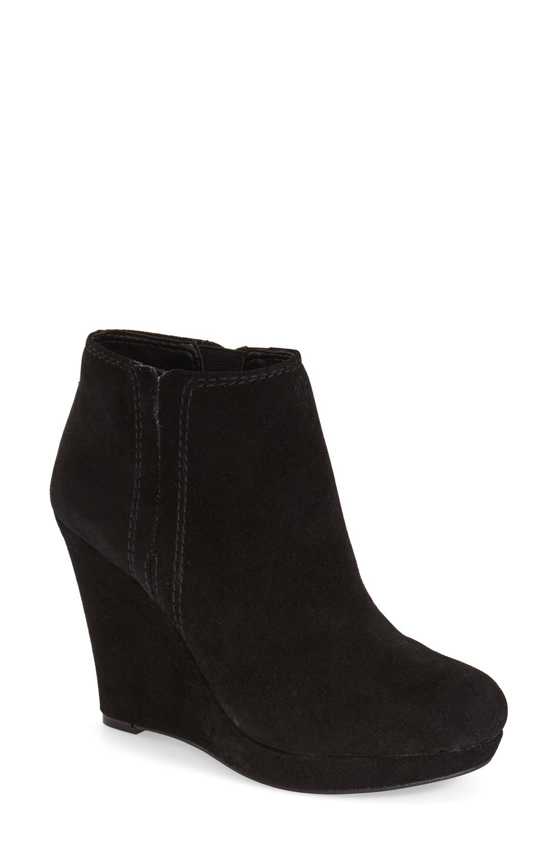 'Calwell' Wedge Bootie,                             Main thumbnail 1, color,                             001