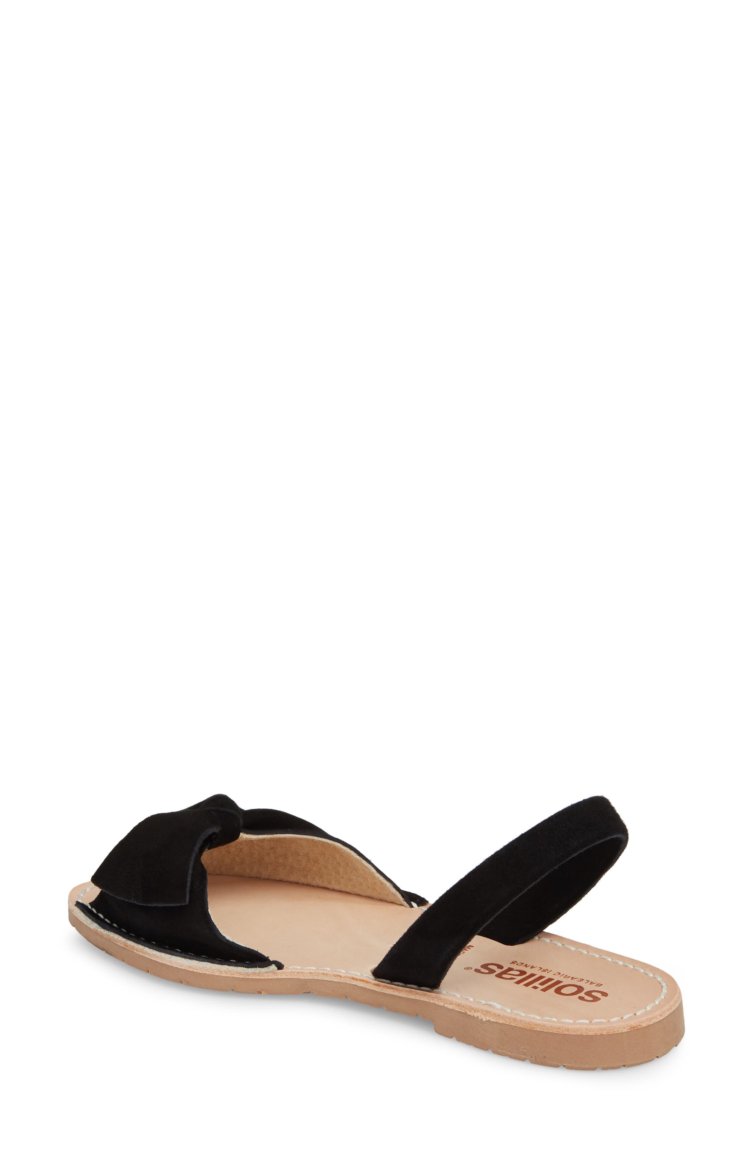Bow Sandal,                             Alternate thumbnail 2, color,                             BLACK