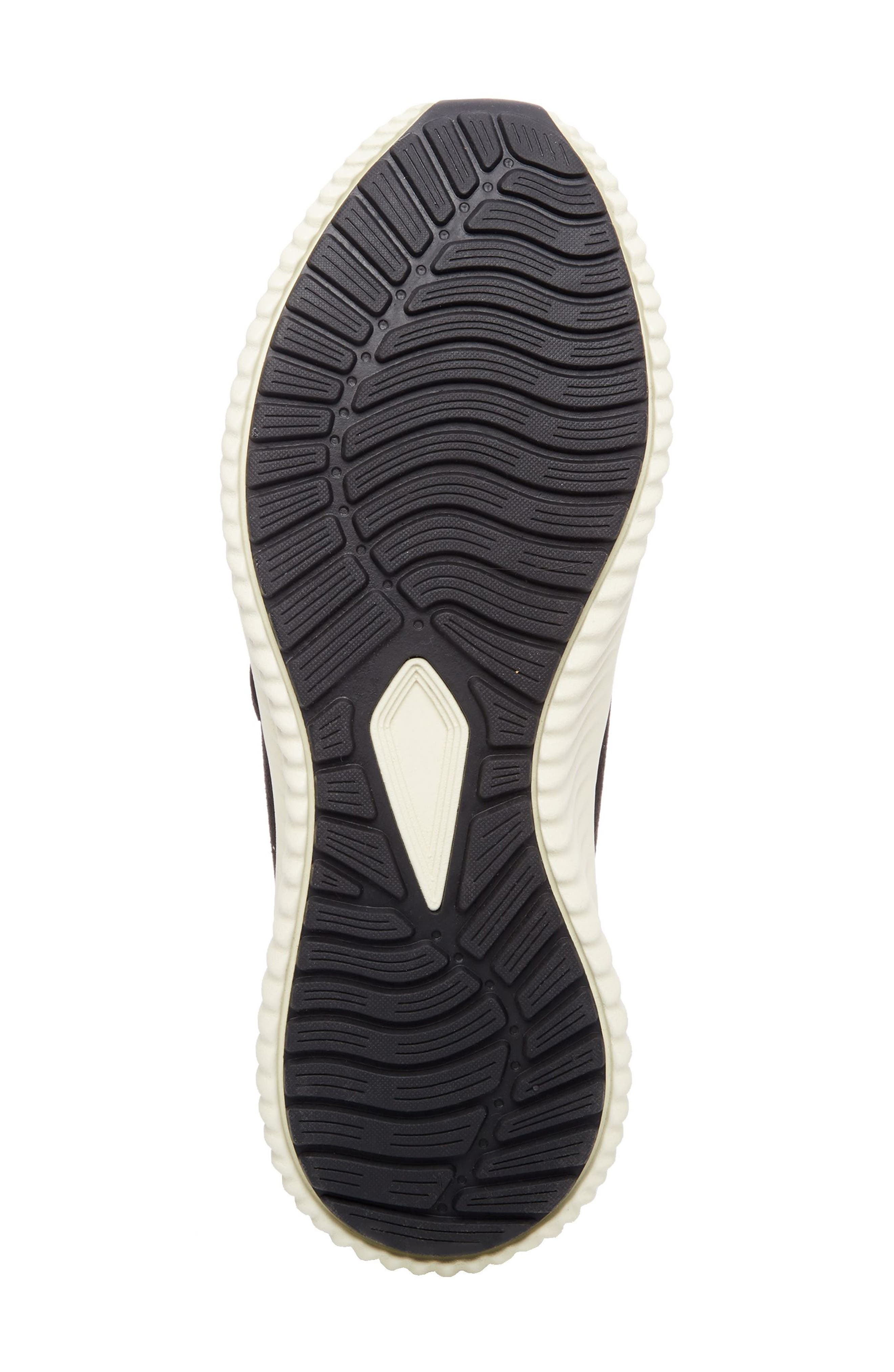Rolf Low Top Sneaker,                             Alternate thumbnail 6, color,                             BLACK LEATHER