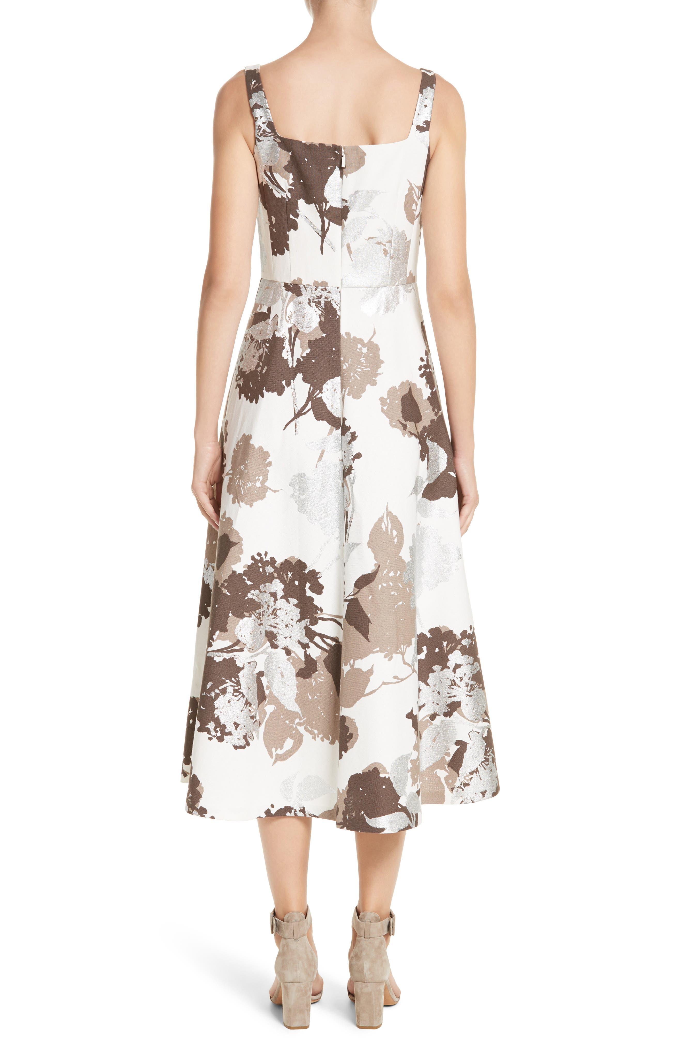 Arlene Print Midi Dress,                             Alternate thumbnail 2, color,                             125