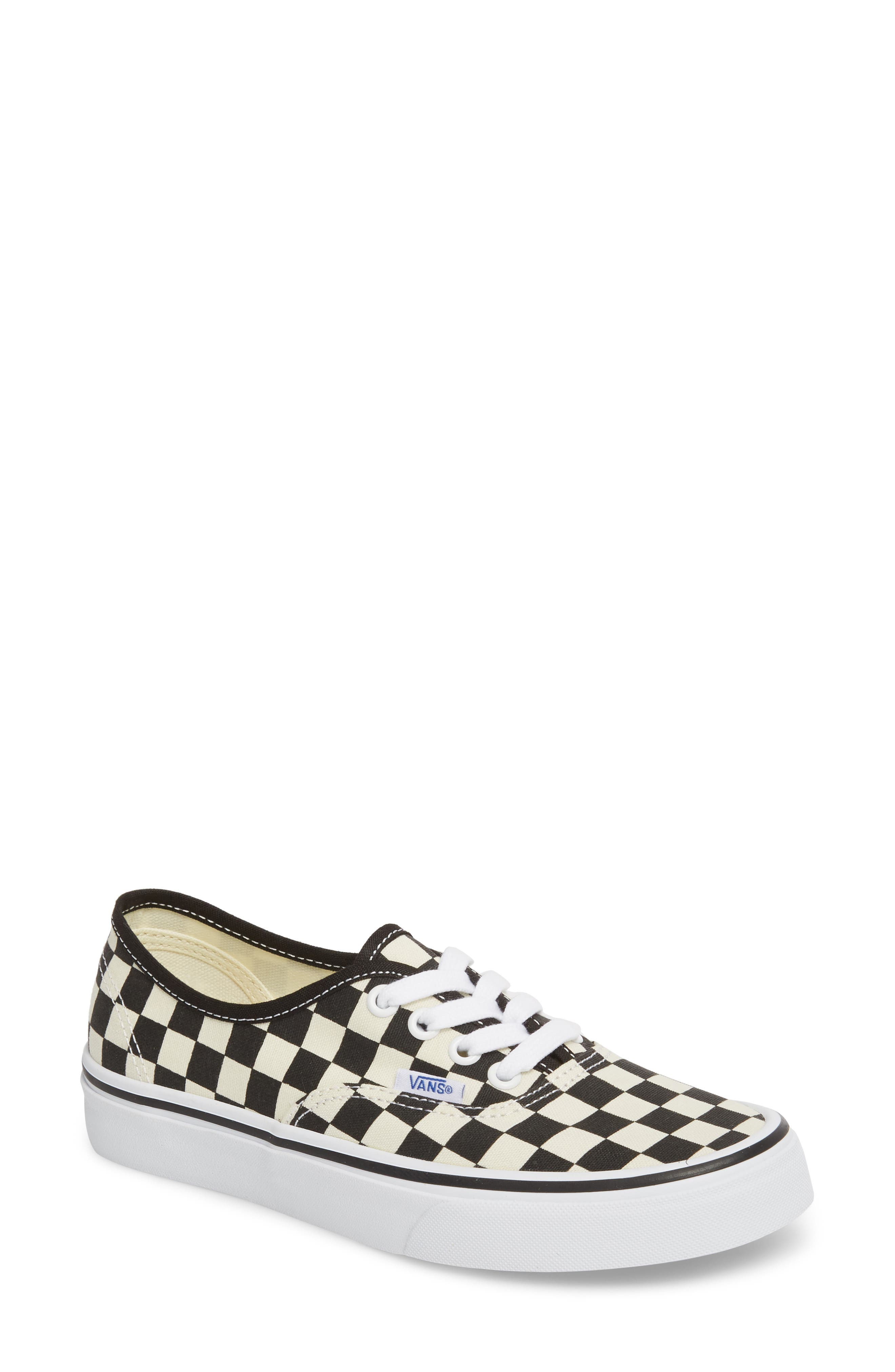 'Authentic' Sneaker,                             Main thumbnail 1, color,                             BLACK/ WHITE CHECKER
